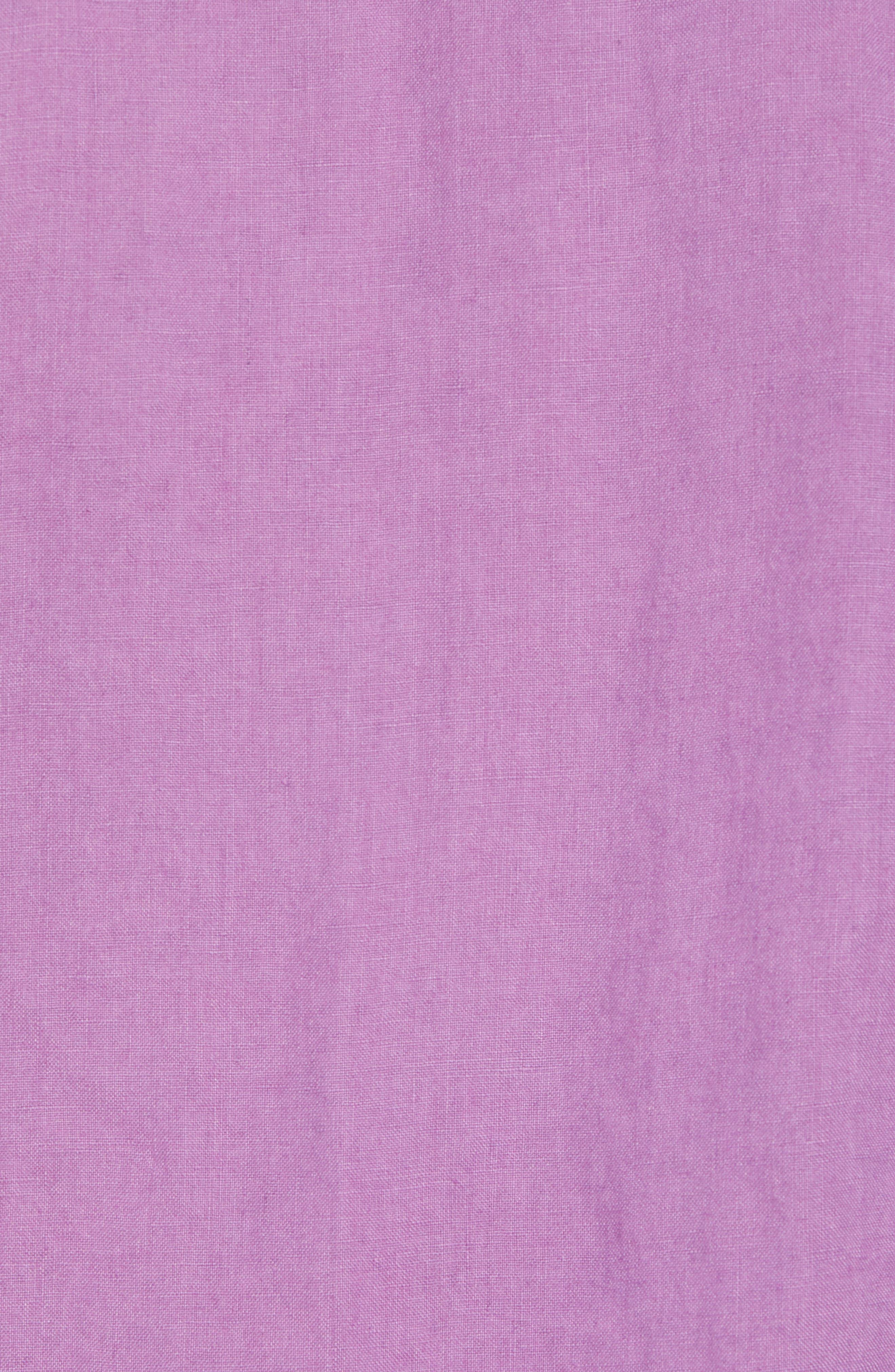 Seaspray Breezer Regular Fit Linen Sport Shirt,                             Alternate thumbnail 5, color,                             Sparkling Grape