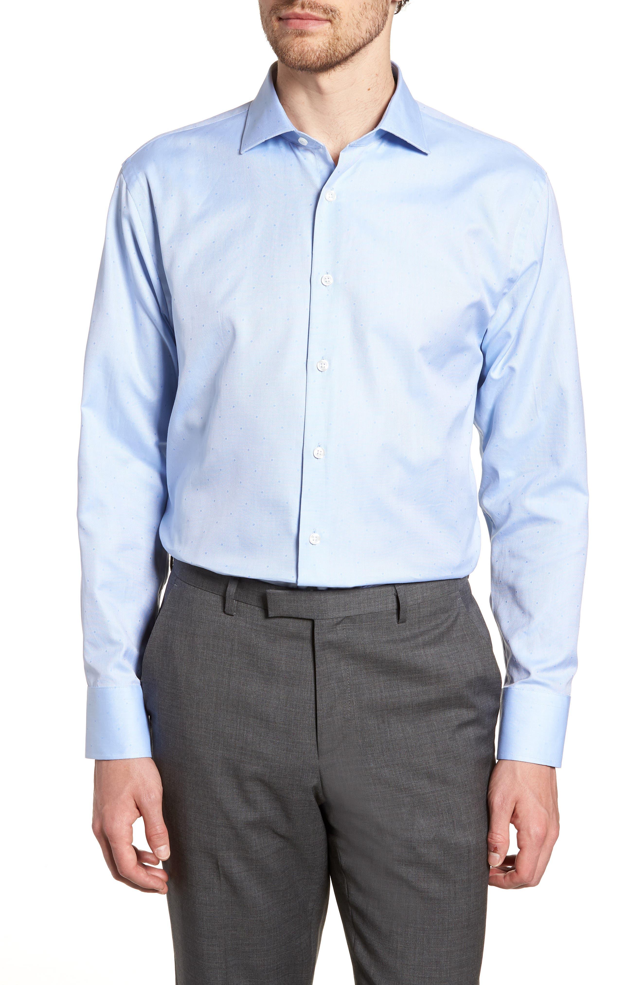 John W. Nordstrom® Traditional Fit Dot Dress Shirt