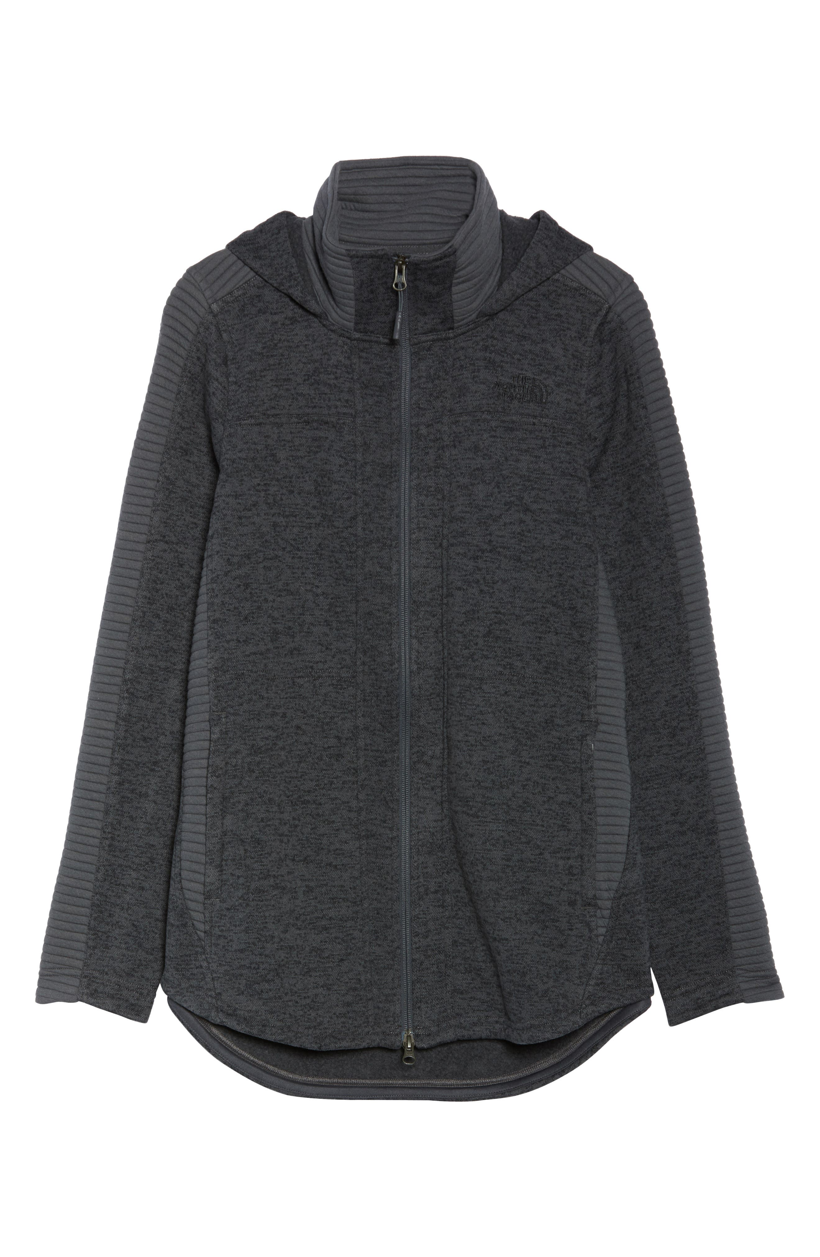 Indi 2 Hooded Knit Parka,                             Alternate thumbnail 7, color,                             Dark Grey Heather