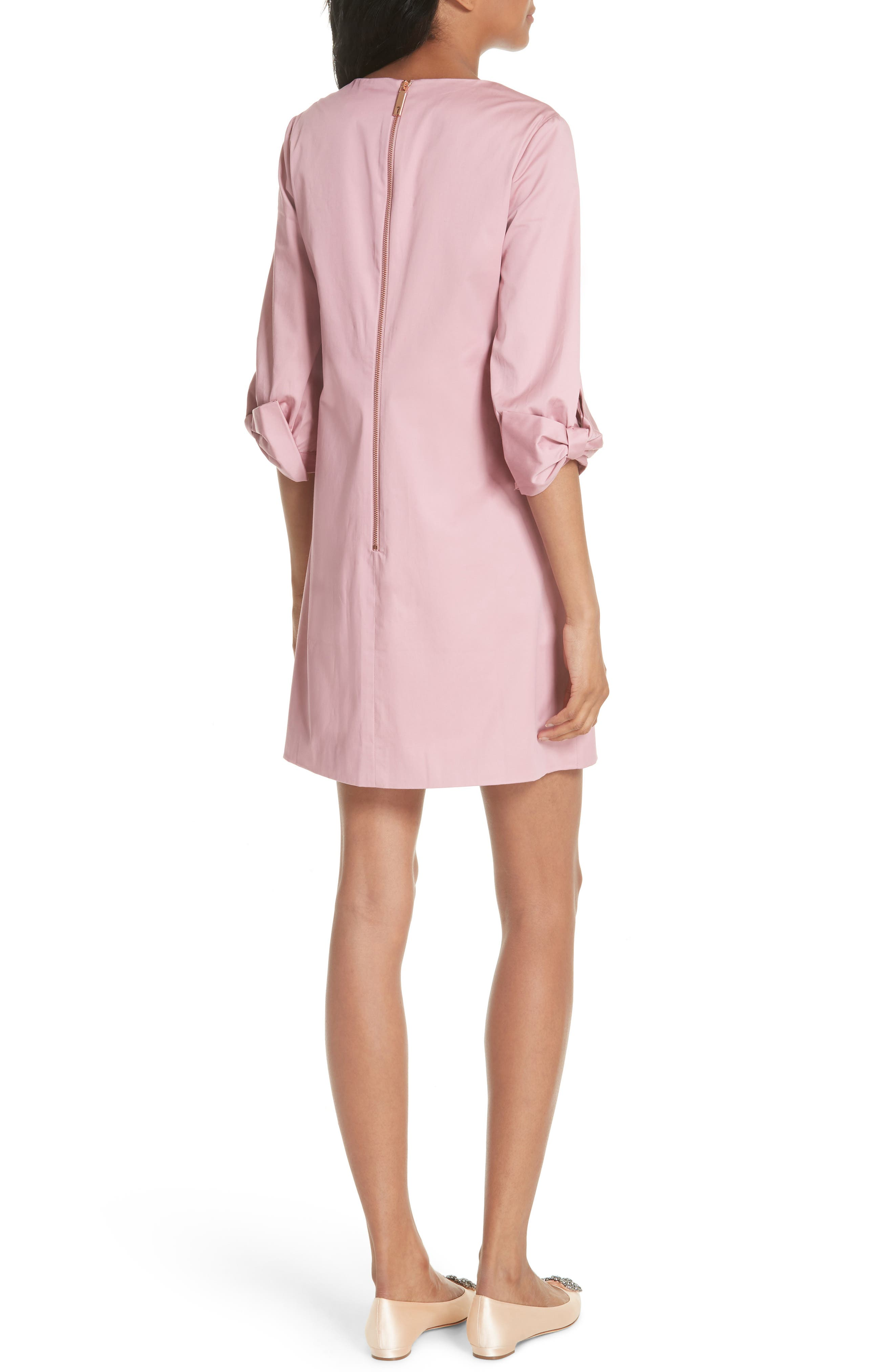 Oversize Sleeve Tunic Dress,                             Alternate thumbnail 2, color,                             Dusky Pink