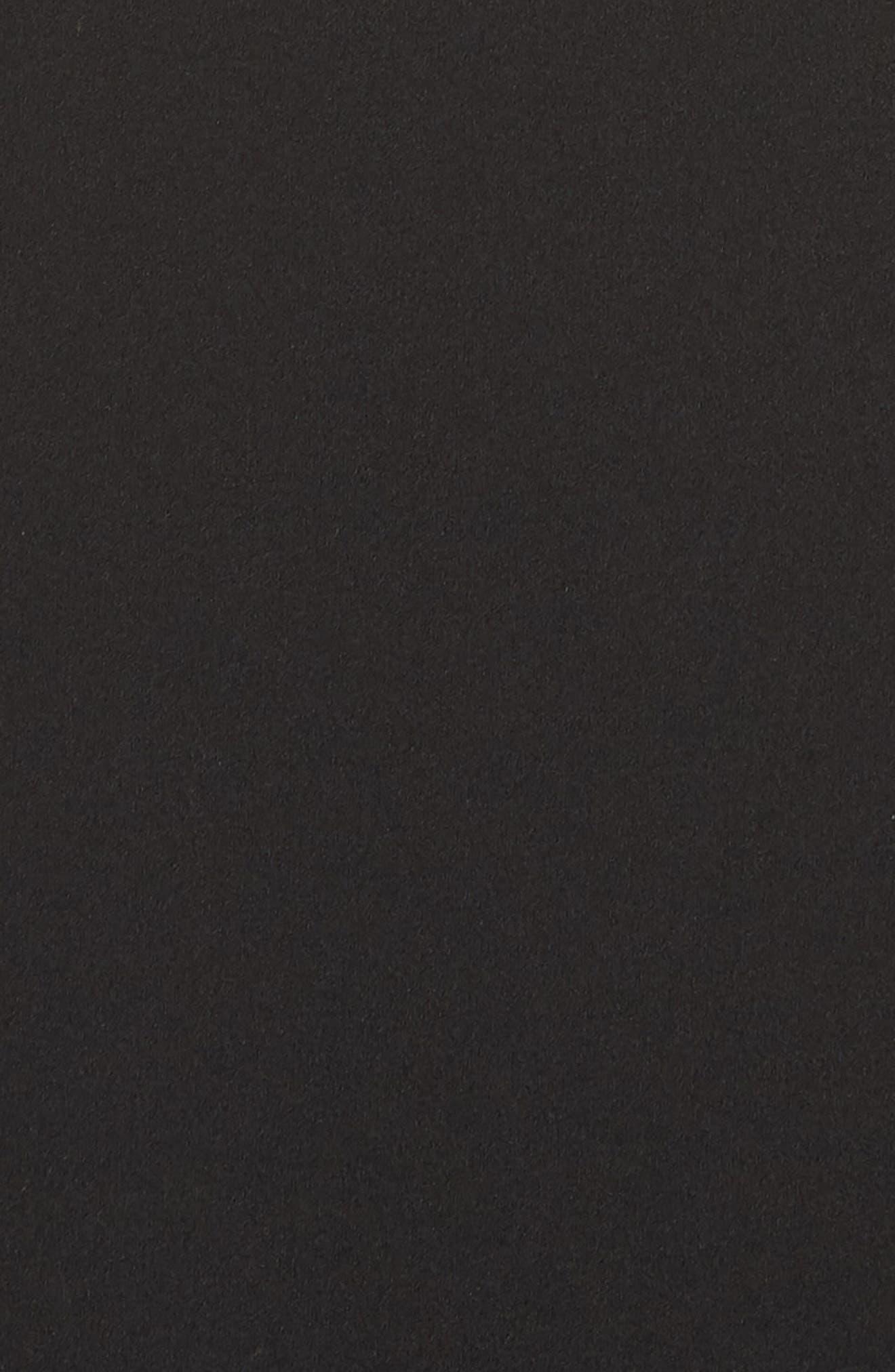 Ruffle Back Scuba Crepe Gown,                             Alternate thumbnail 6, color,                             Black