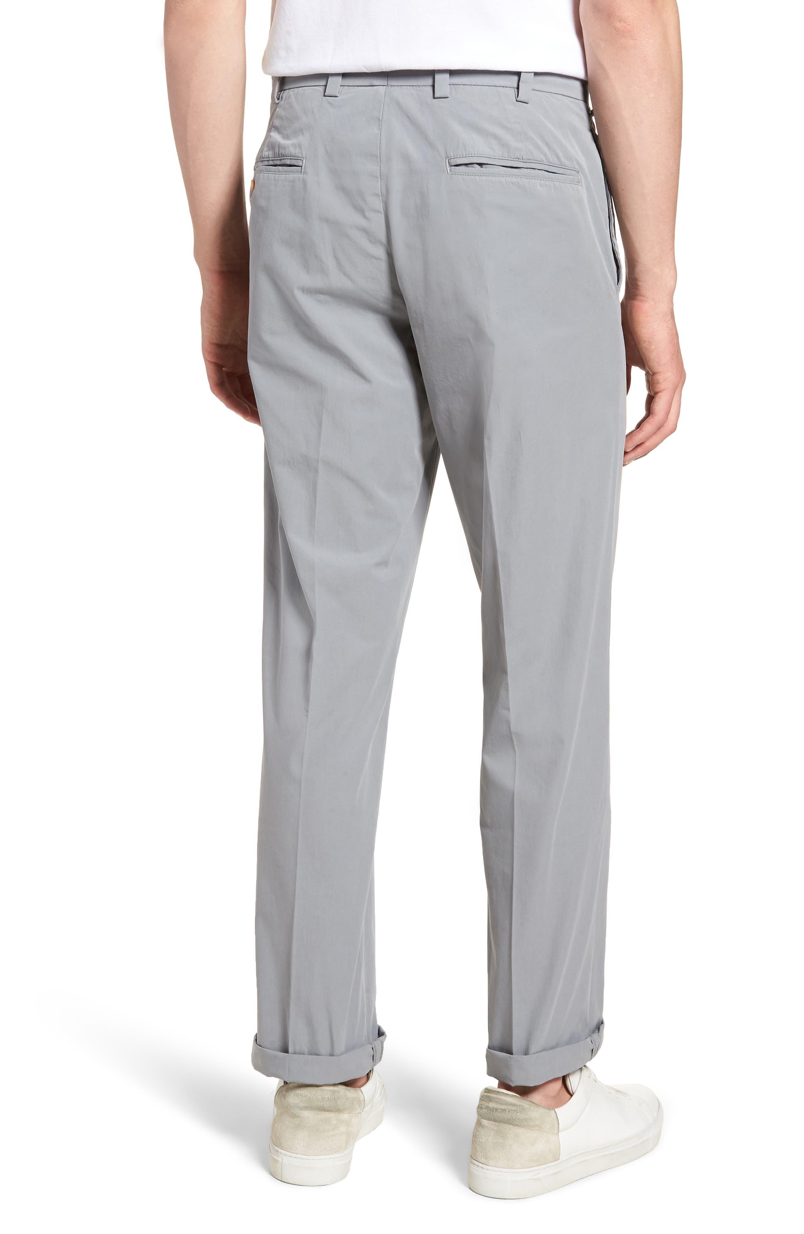 M2 Classic Fit Flat Front Tropical Cotton Poplin Pants,                             Alternate thumbnail 2, color,                             Nickel