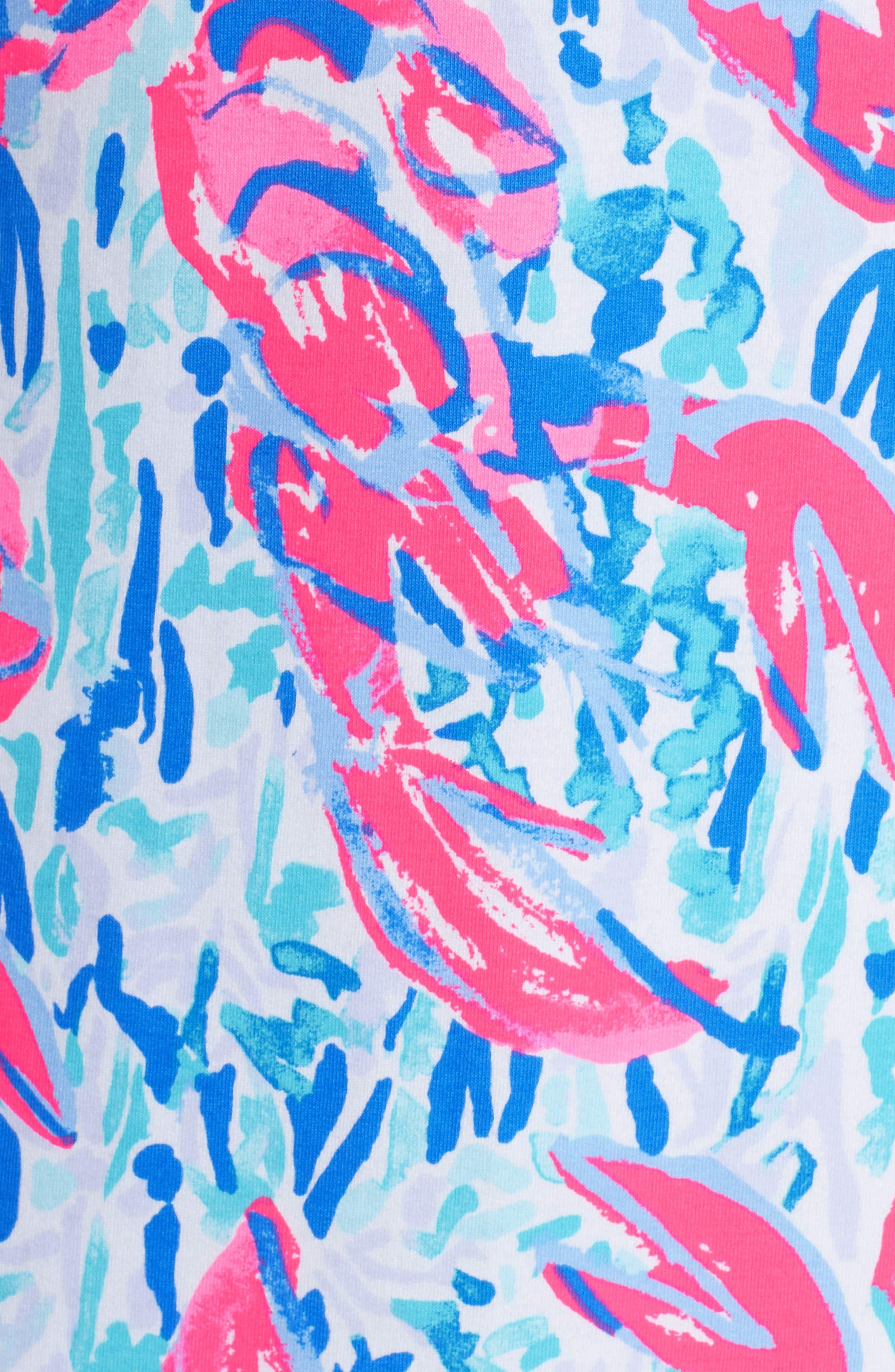 Harper Shift Dress,                             Alternate thumbnail 5, color,                             Cosmic Coral Cracked Up