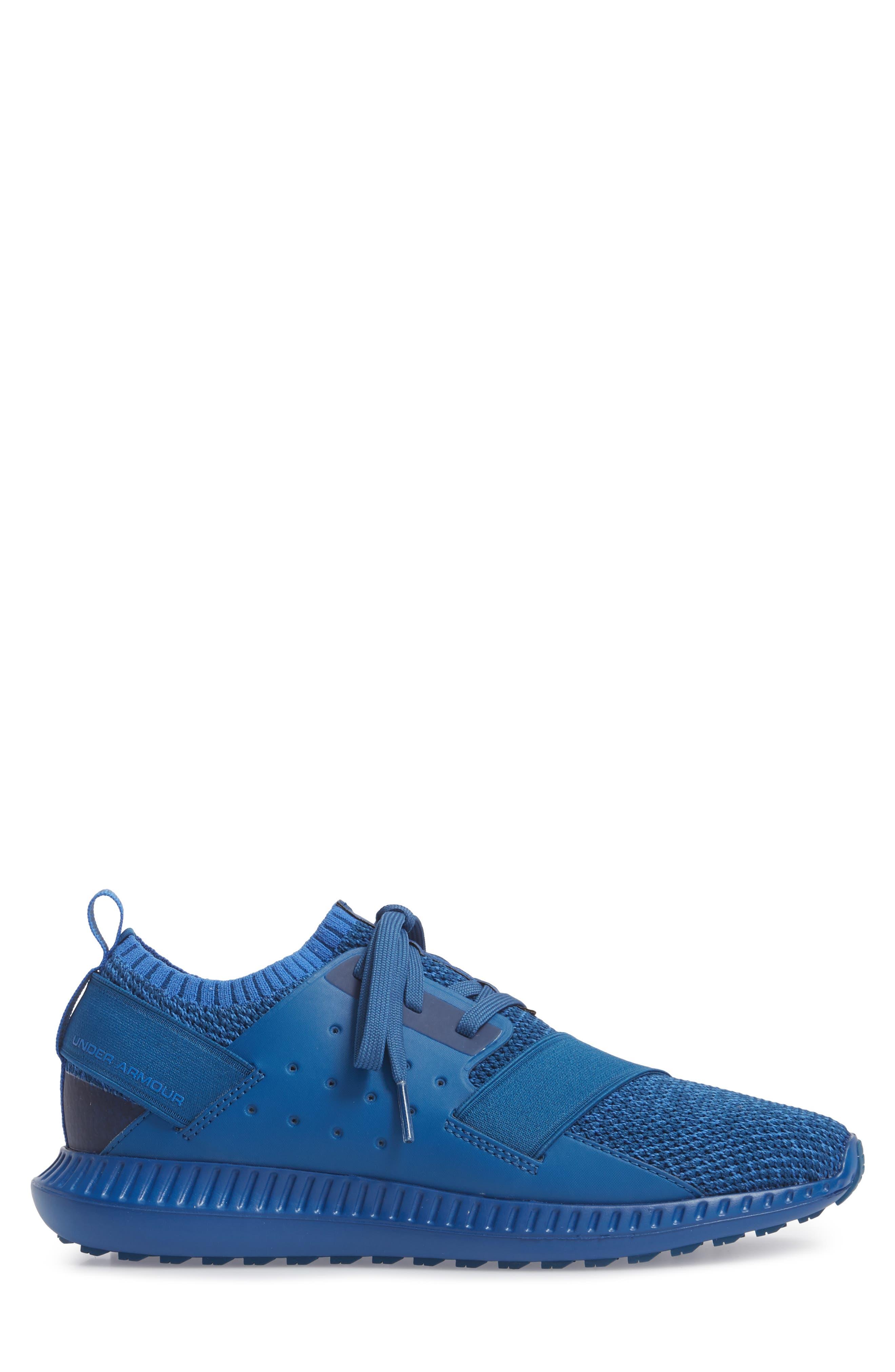 Threadborne Shift Sneaker,                             Alternate thumbnail 3, color,                             Blue / Mediterranean