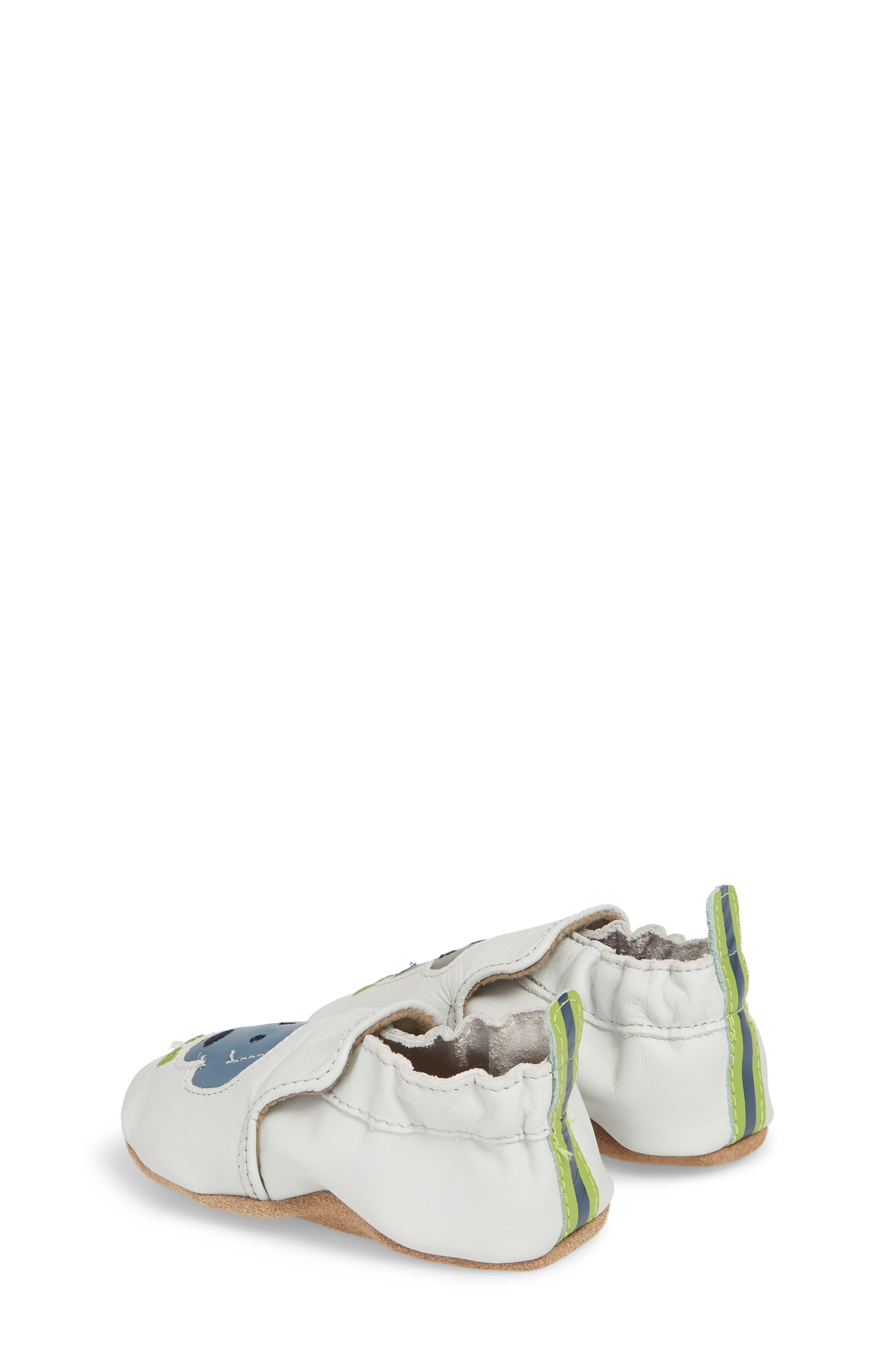 Dog Buddies Moccasin Crib Shoe,                             Alternate thumbnail 2, color,                             Light Grey
