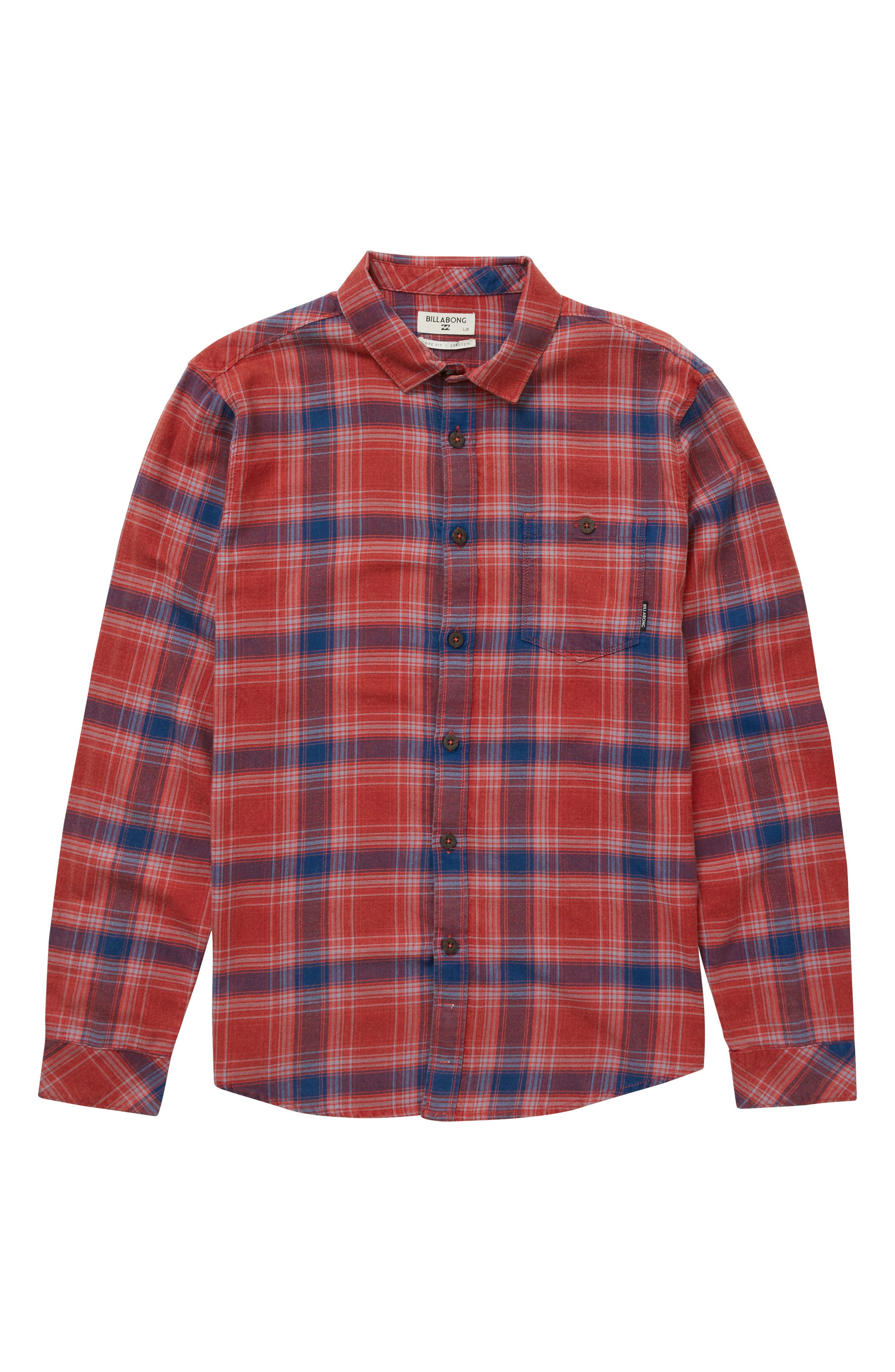 Freemont Plaid Flannel Shirt,                             Main thumbnail 1, color,                             Red