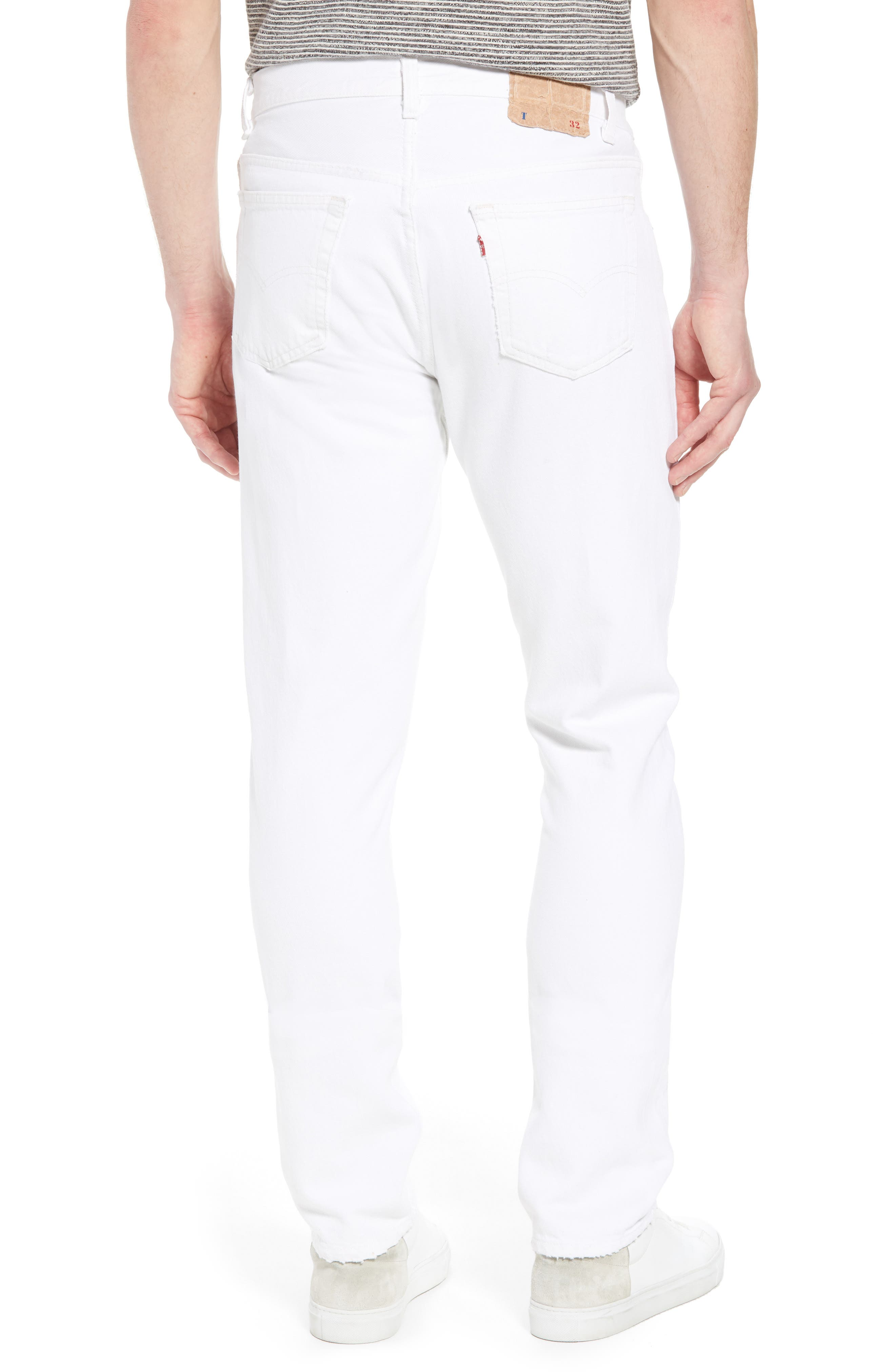 Authorized Vintage 501<sup>®</sup> Tapered Slim Fit Jeans,                             Alternate thumbnail 2, color,                             Av White
