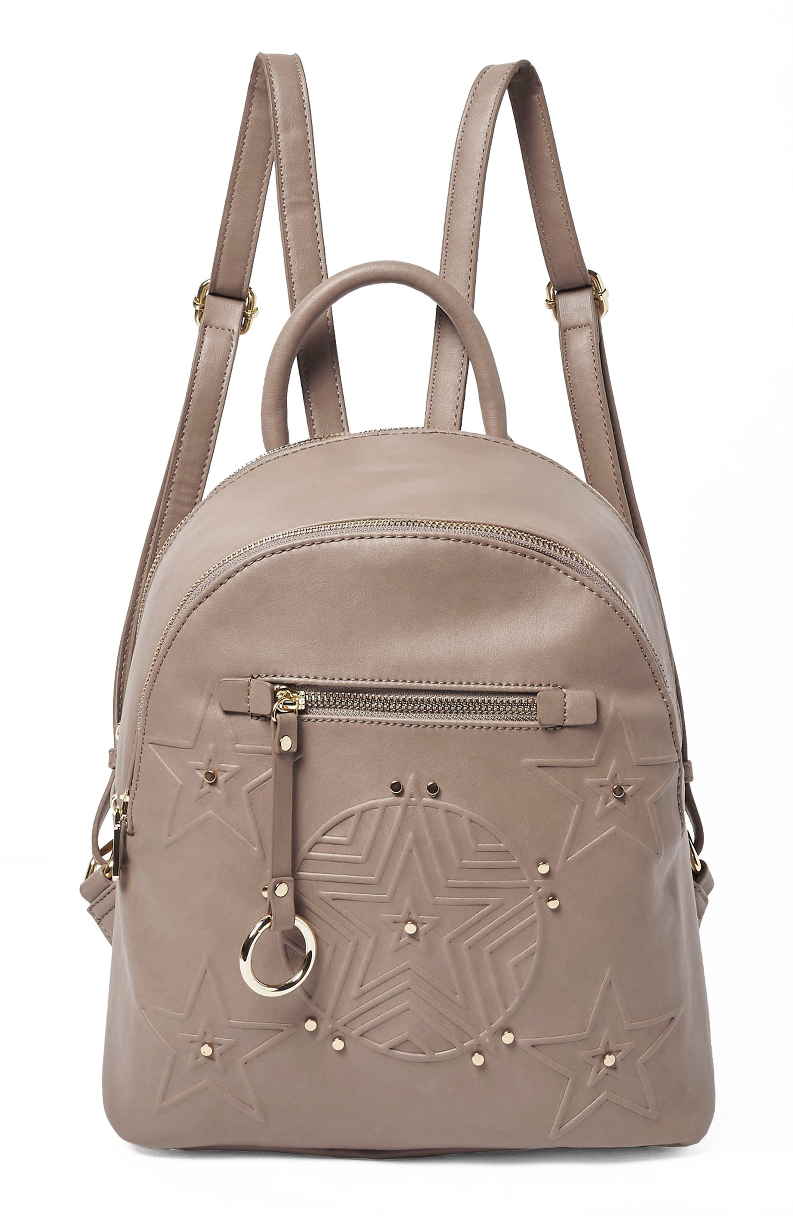 Urban Originals CELESTIAL VEGAN LEATHER BACKPACK - GREY
