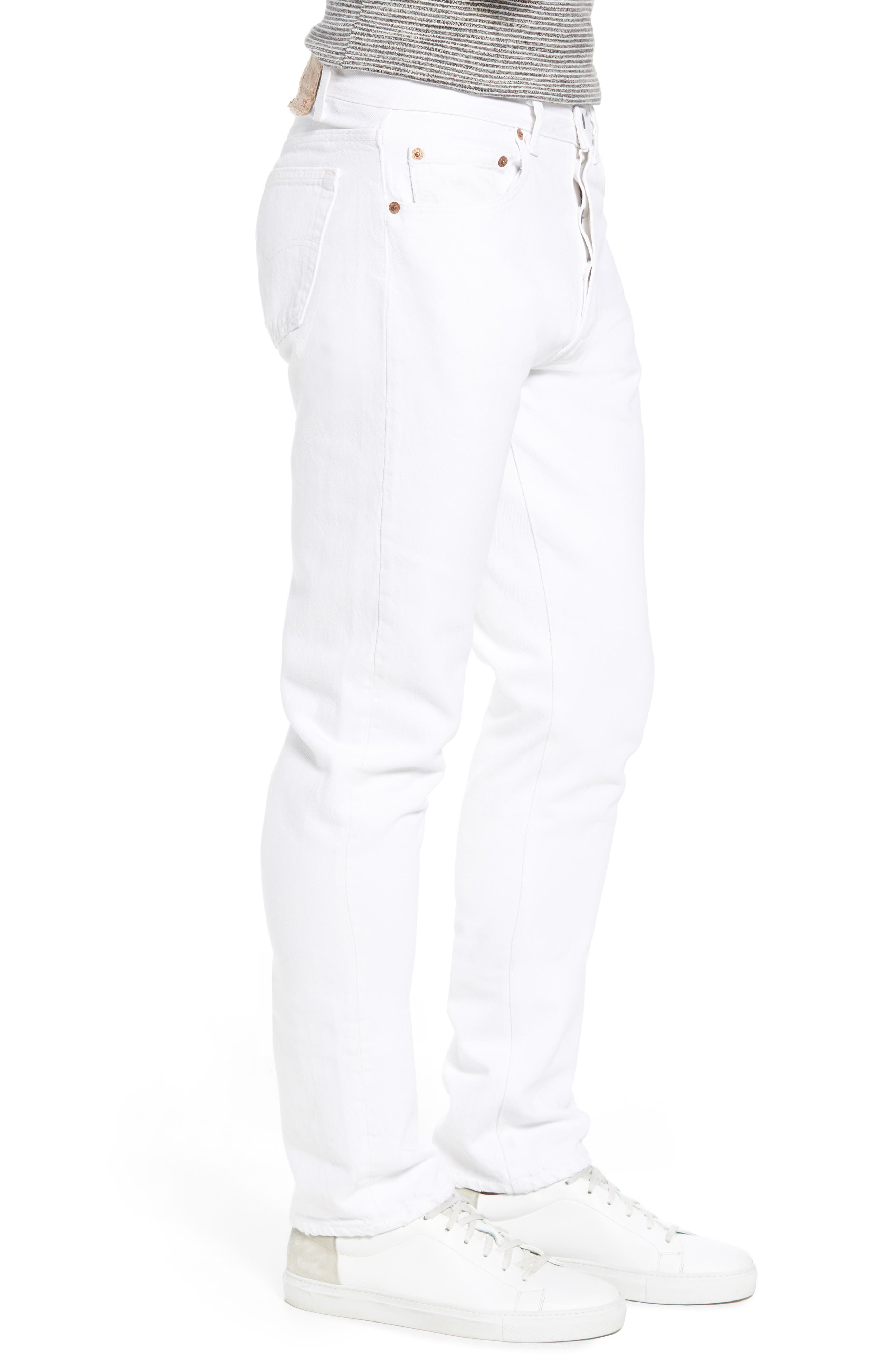 Authorized Vintage 501<sup>®</sup> Tapered Slim Fit Jeans,                             Alternate thumbnail 3, color,                             Av White