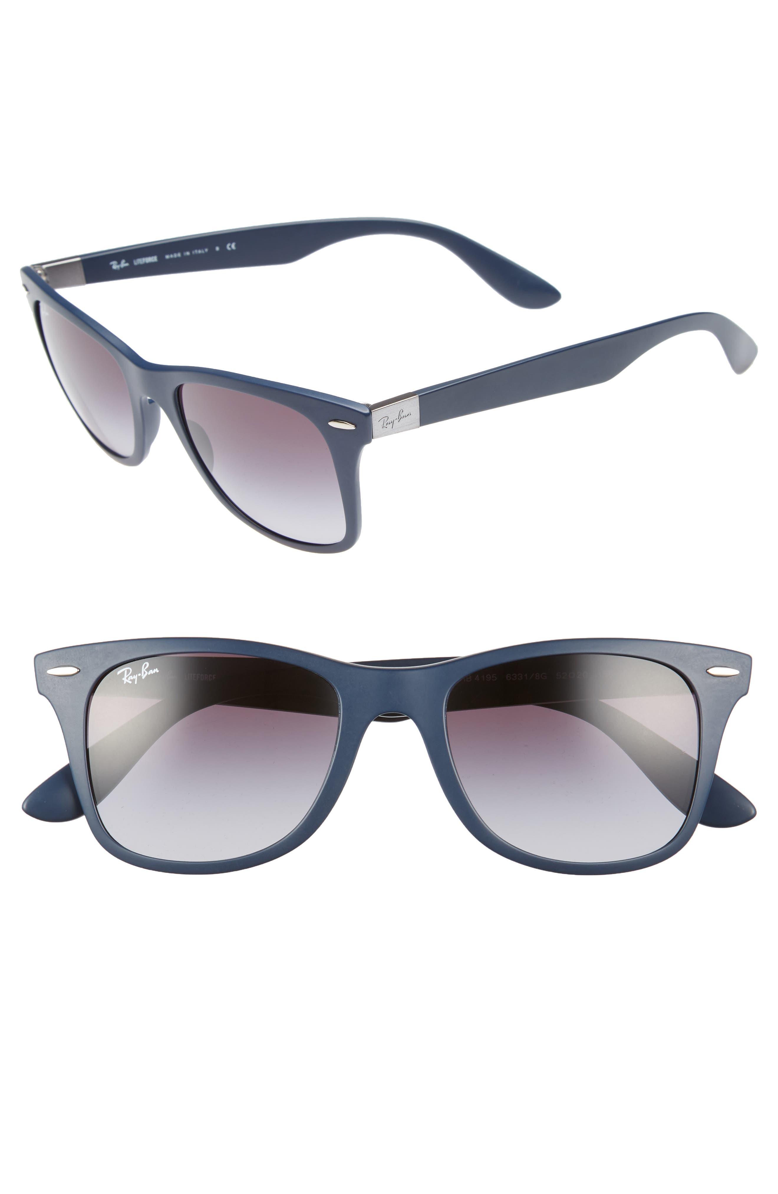 52mm Sunglasses,                             Main thumbnail 1, color,                             Blue/ Grey
