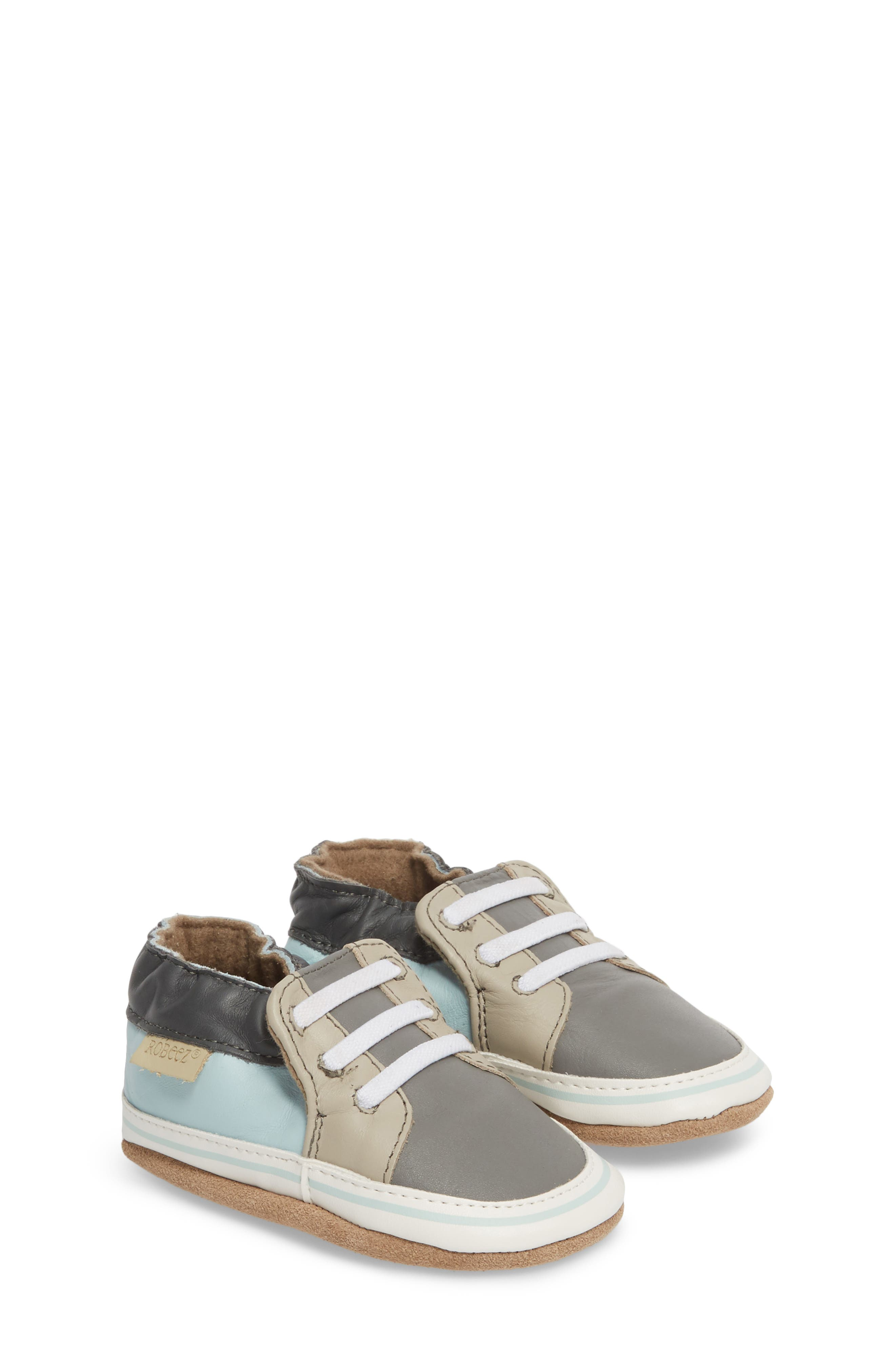 Trendy Chris Crib Sneaker,                             Alternate thumbnail 3, color,                             Grey