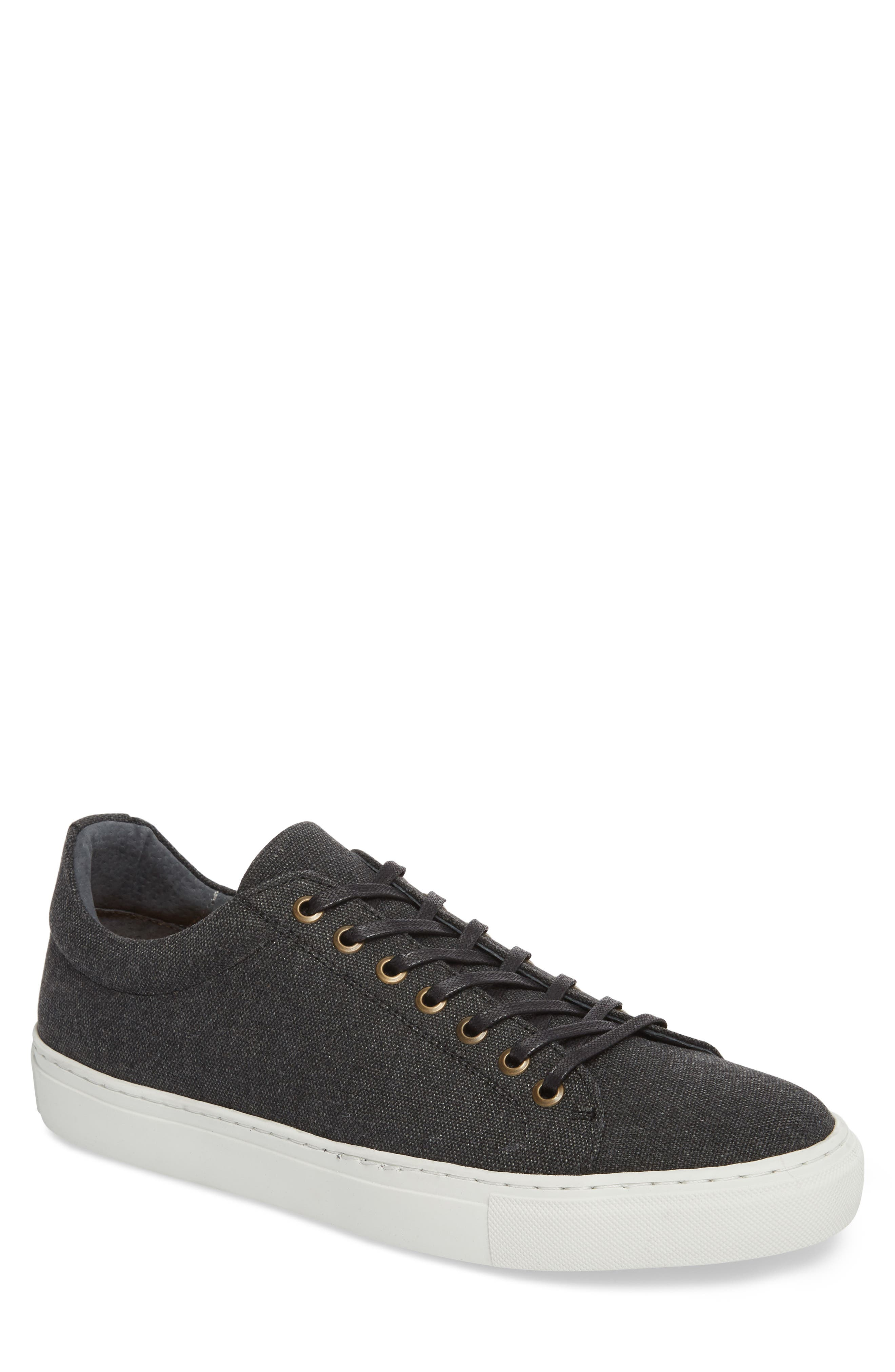 Mark Low Top Sneaker,                         Main,                         color, Black Canvas