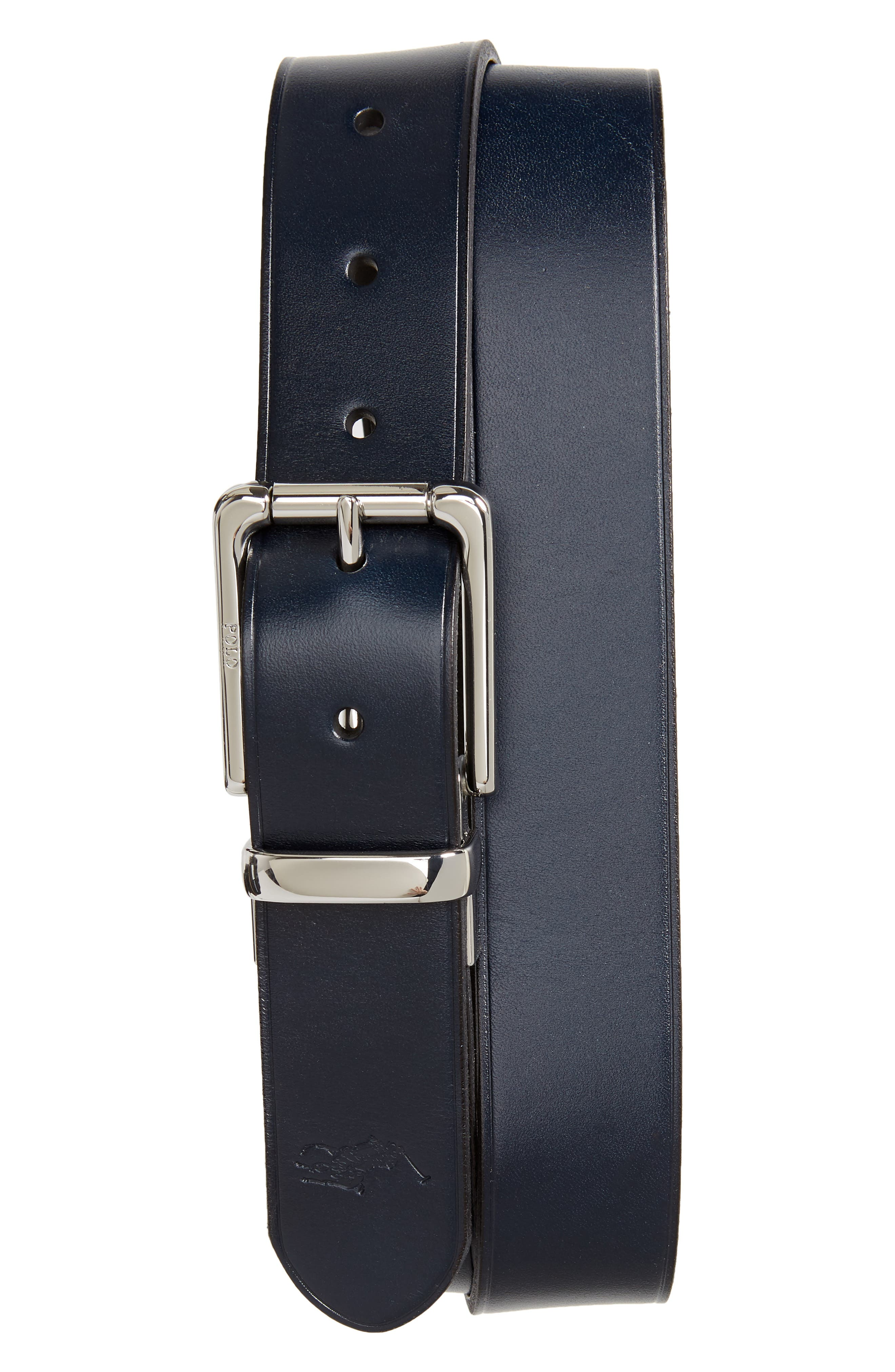 13ff9a0a4d0b Polo Ralph Lauren Reversible Leather Belt In Navy  Black
