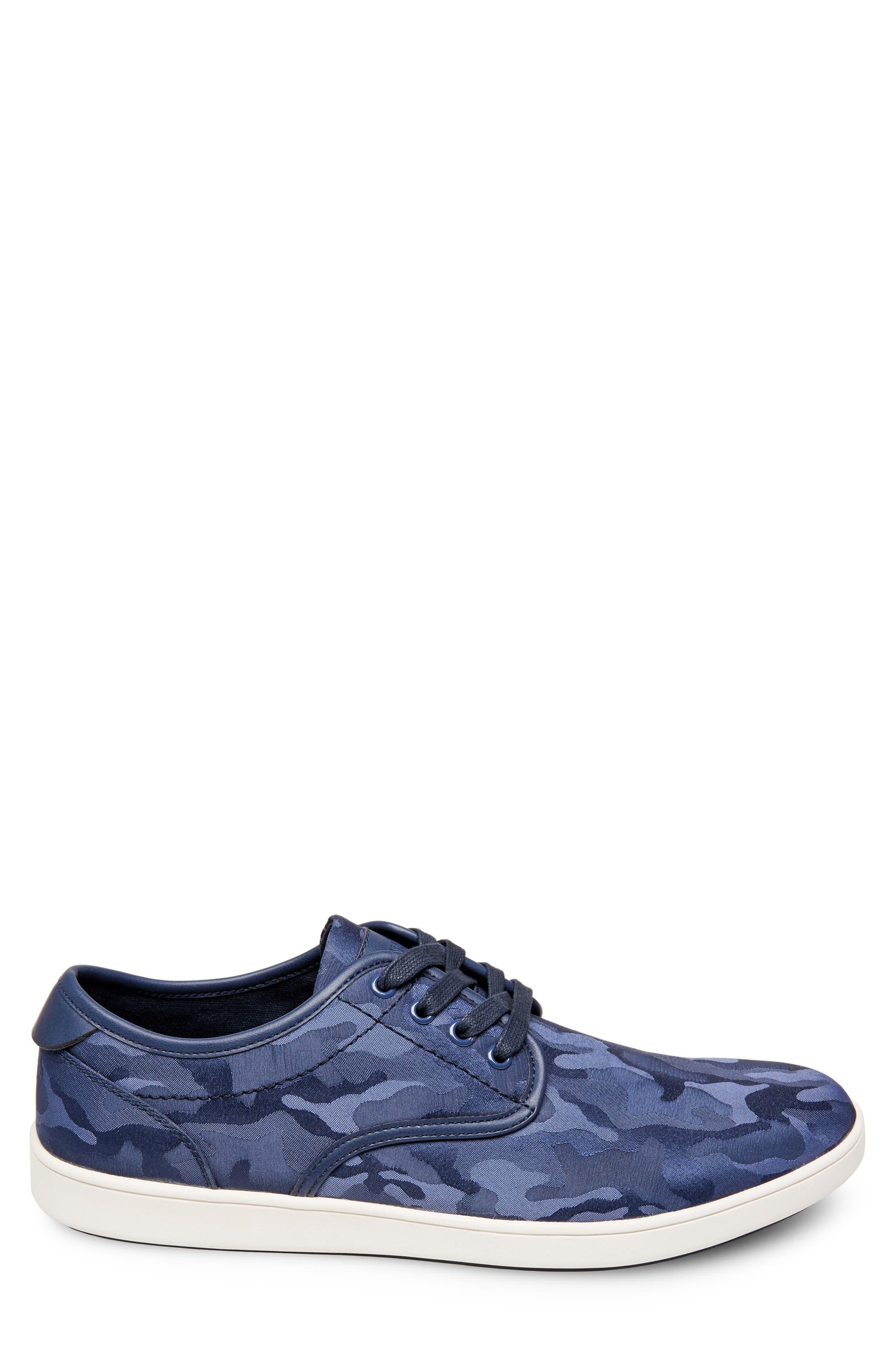 Frenzo Camo Sneaker,                             Alternate thumbnail 4, color,                             Blue Camo Fabric