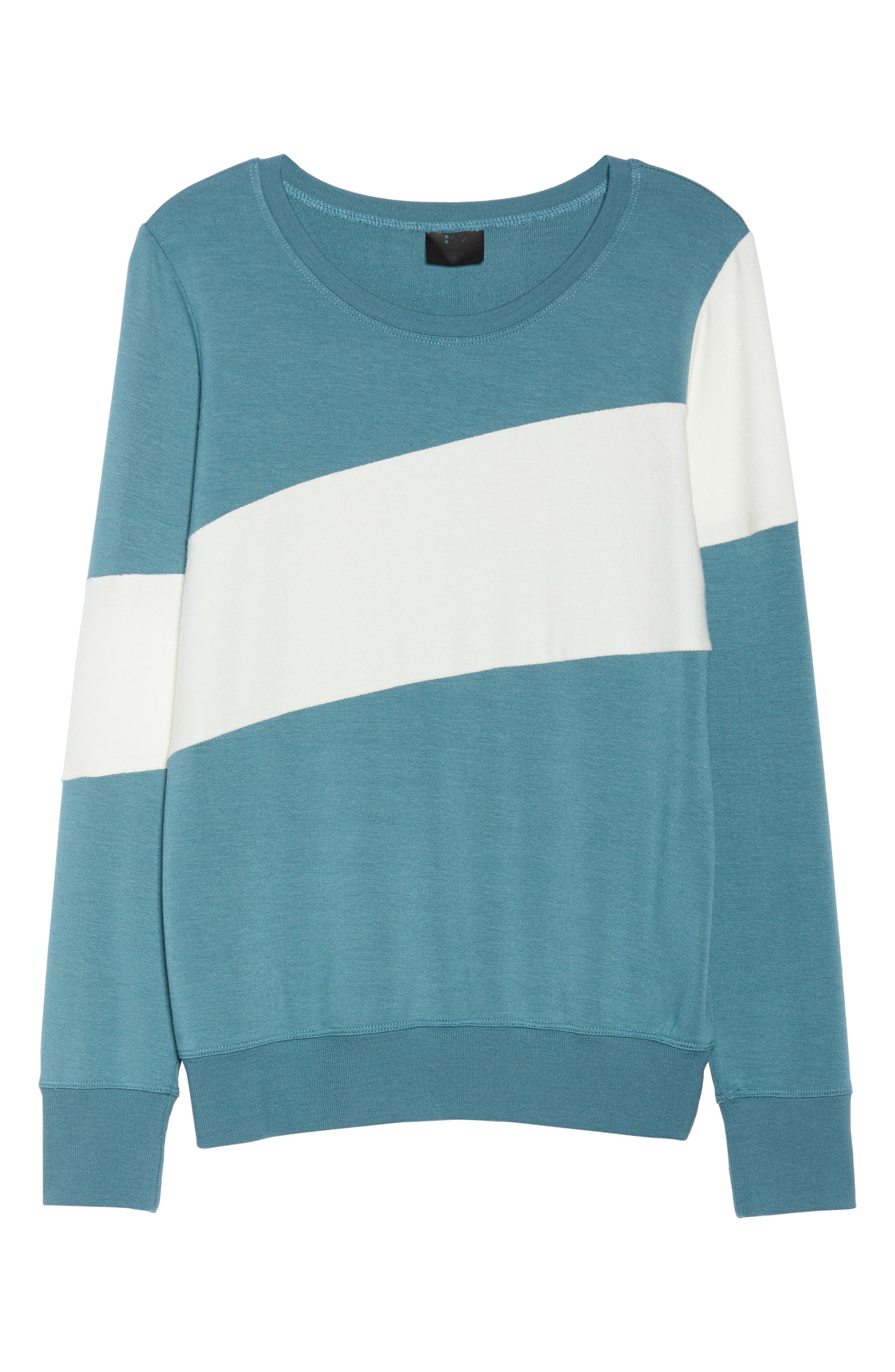 Ramp Sweatshirt,                             Alternate thumbnail 7, color,                             Blue Surf/ Off White