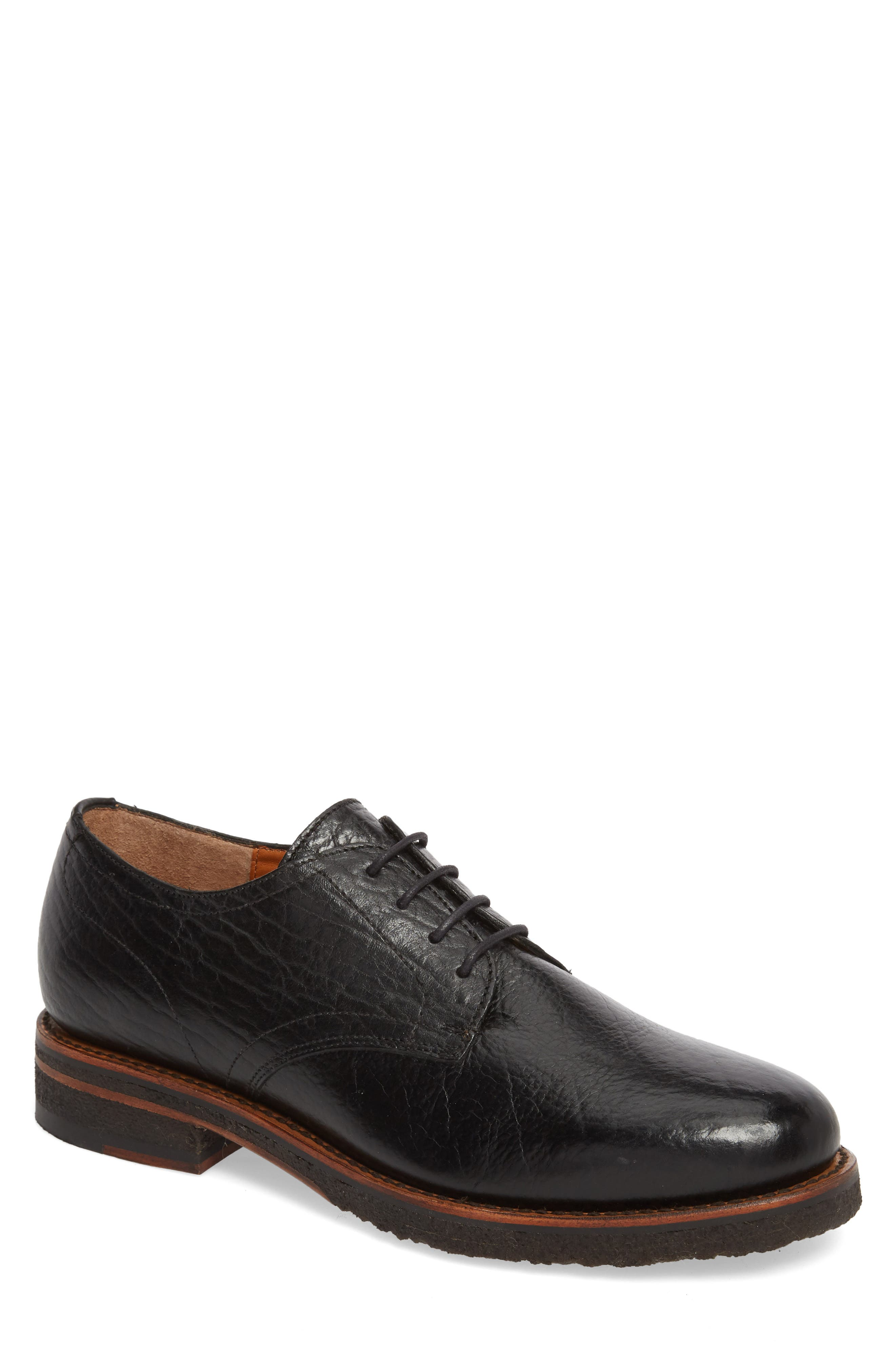 Two24 by Ariat Hawthorne Plain Toe Derby,                         Main,                         color, Black Leather