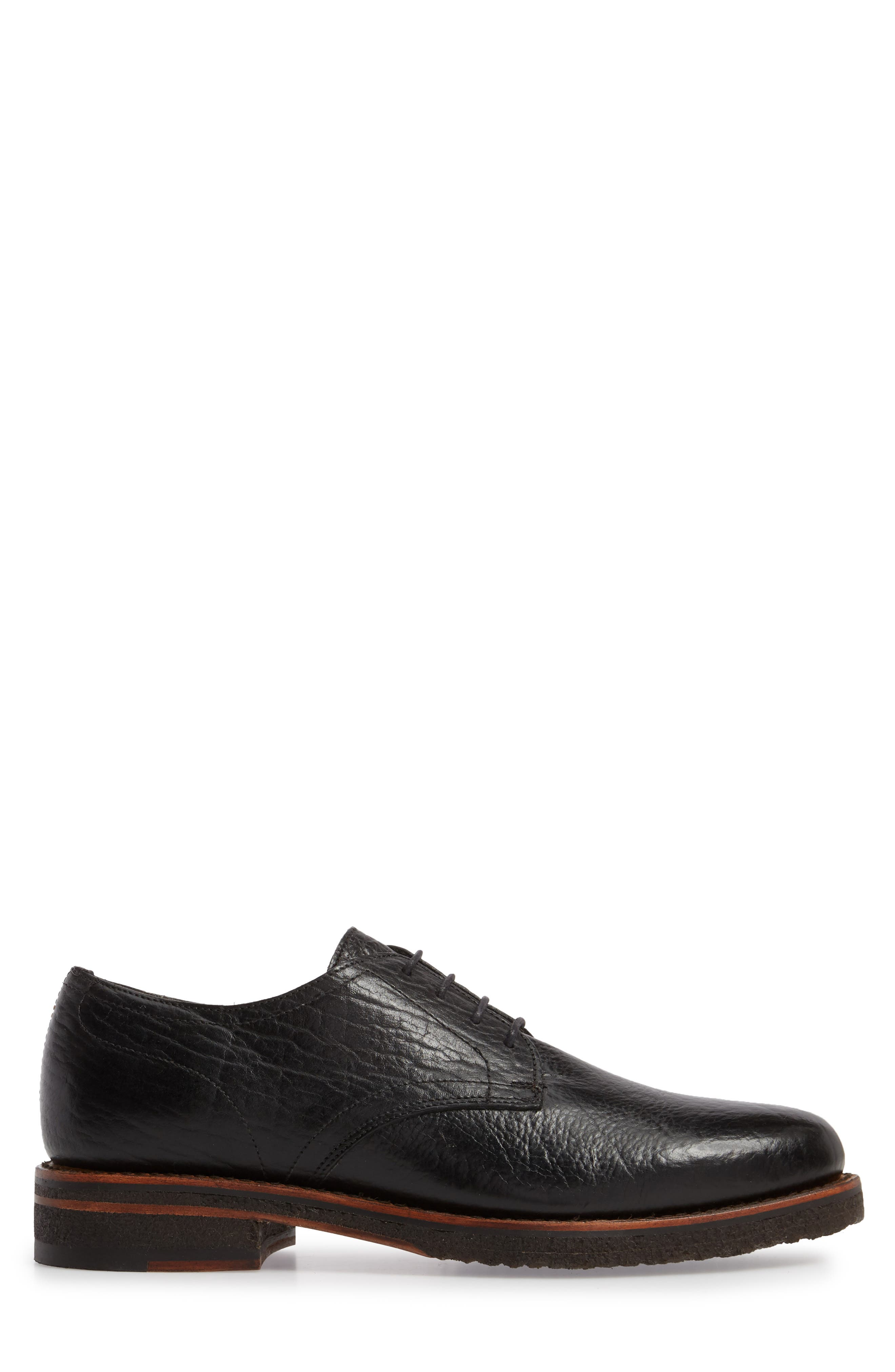 Two24 by Ariat Hawthorne Plain Toe Derby,                             Alternate thumbnail 3, color,                             Black Leather