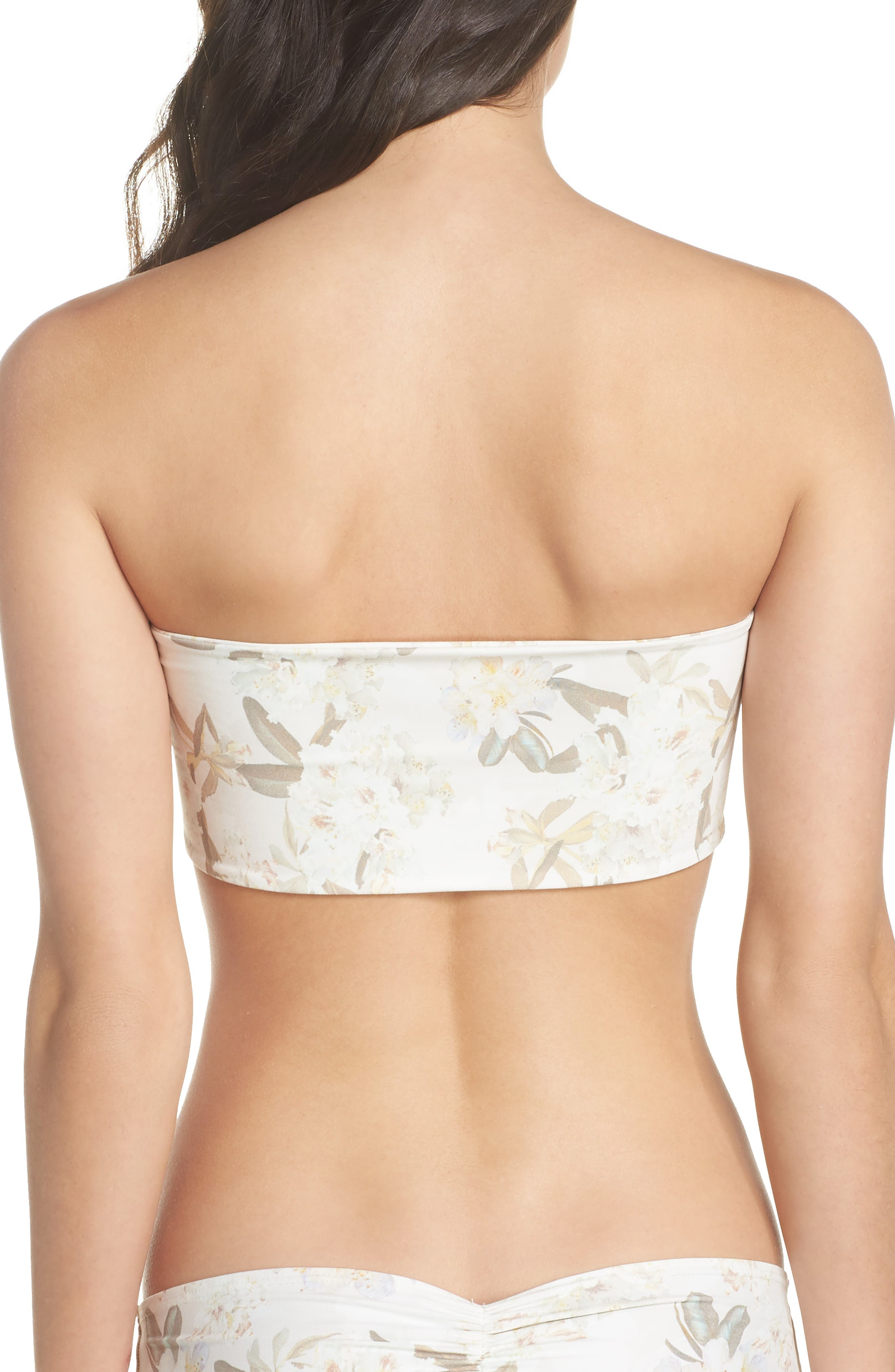 Floral Corset Bikini Top,                             Alternate thumbnail 2, color,                             Ete Floral White