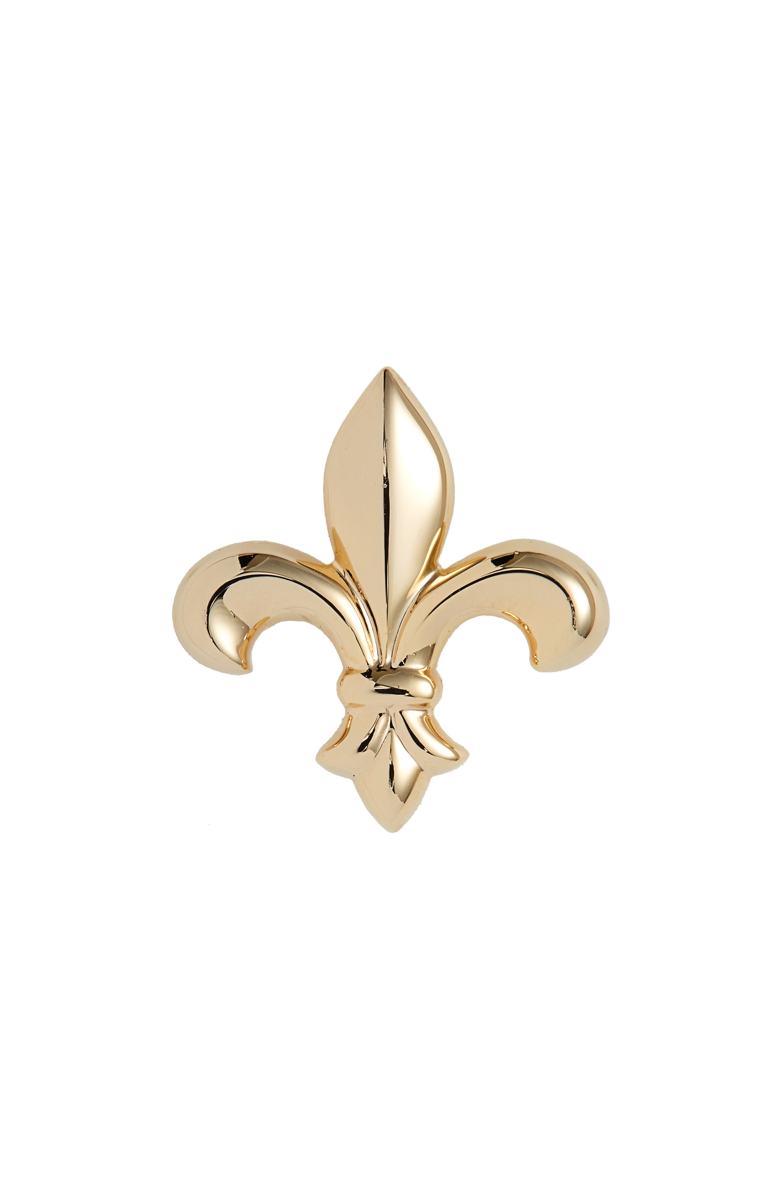 Perfect DAVID DONAHUE FLEUR DE LIS LAPEL PIN, GOLD