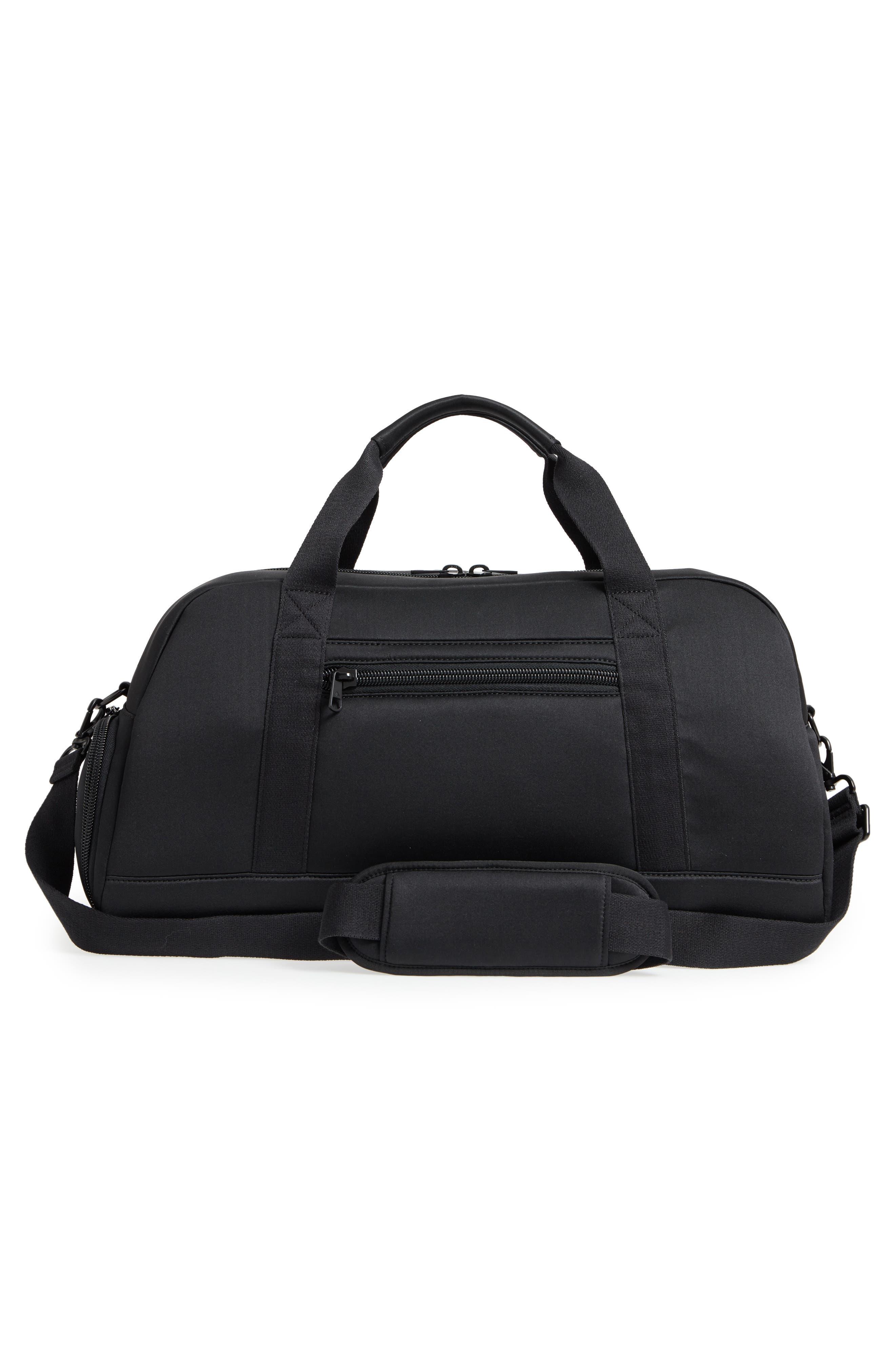 Franklin Neoprene Duffel Bag,                             Alternate thumbnail 2, color,                             Black