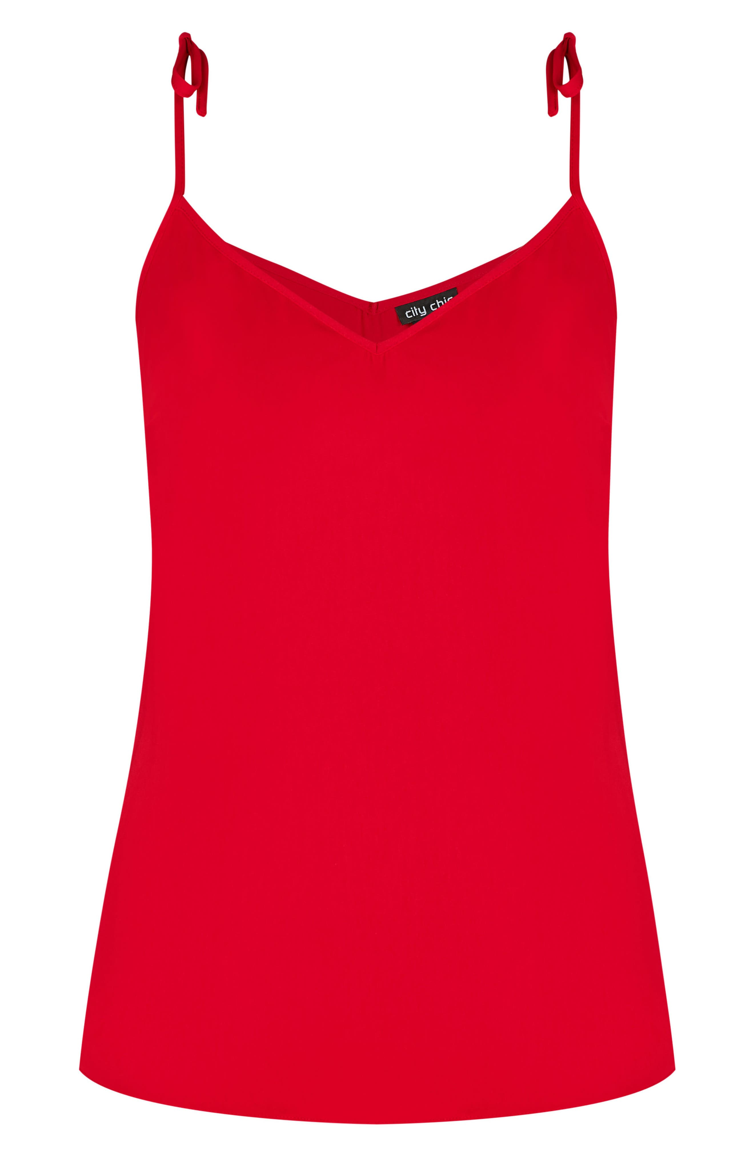 Sweet Tie Camisole,                             Alternate thumbnail 3, color,                             Red
