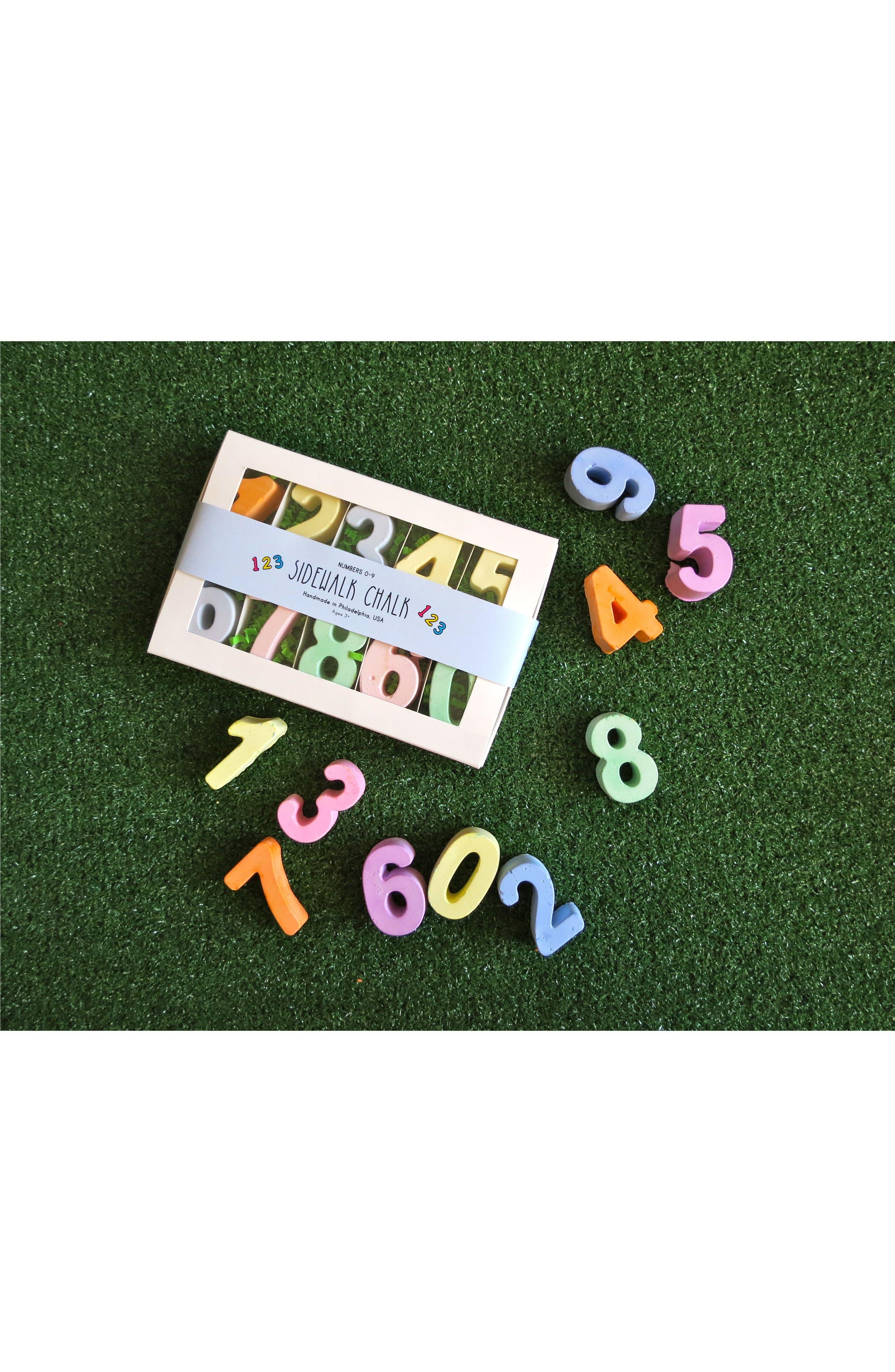 Alternate Image 2  - TWEE 10-Piece Numbers Sidewalk Chalk Set