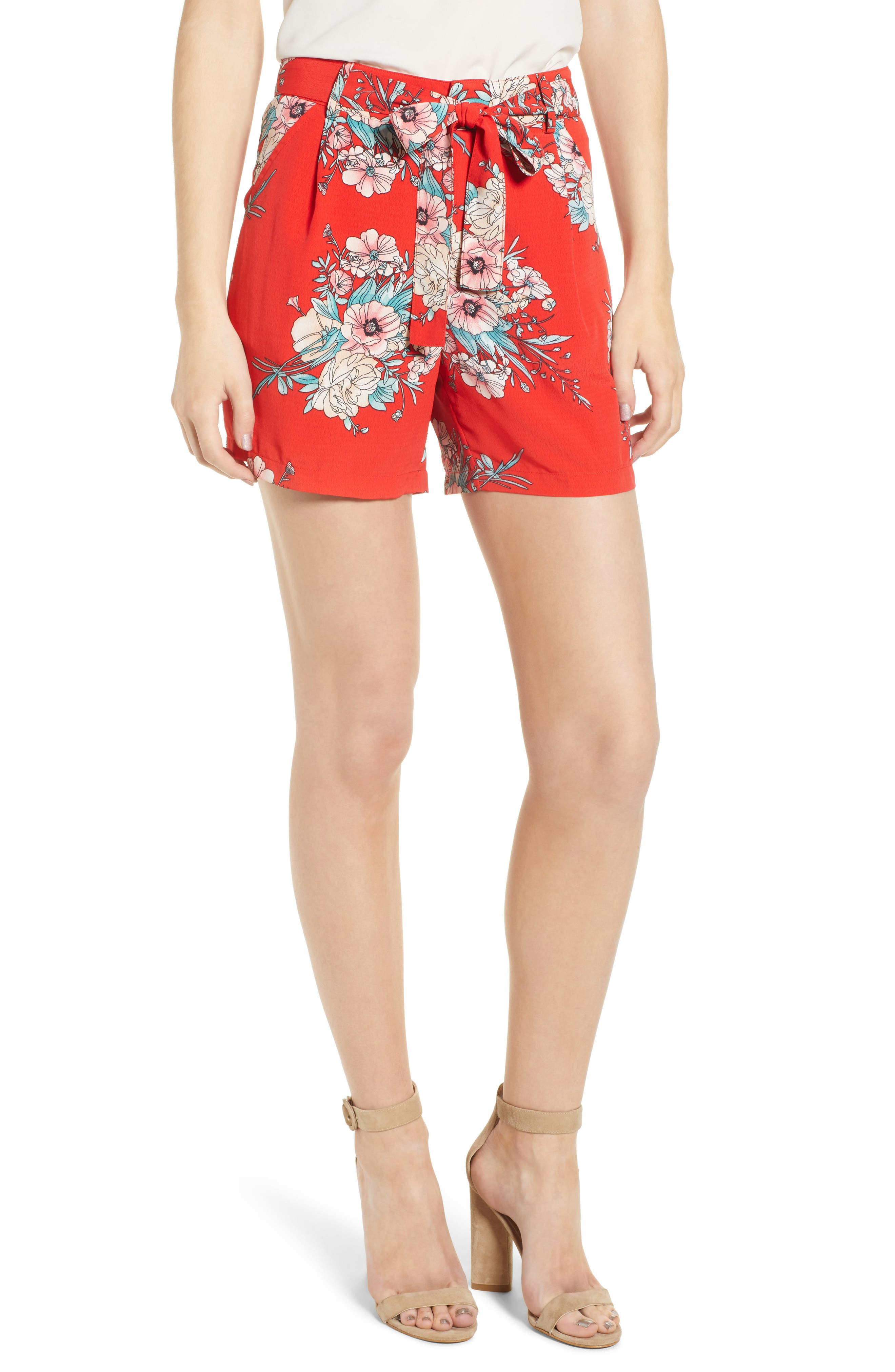 Bishop + Young Wild Heart Shorts,                         Main,                         color, Wild Heart Print