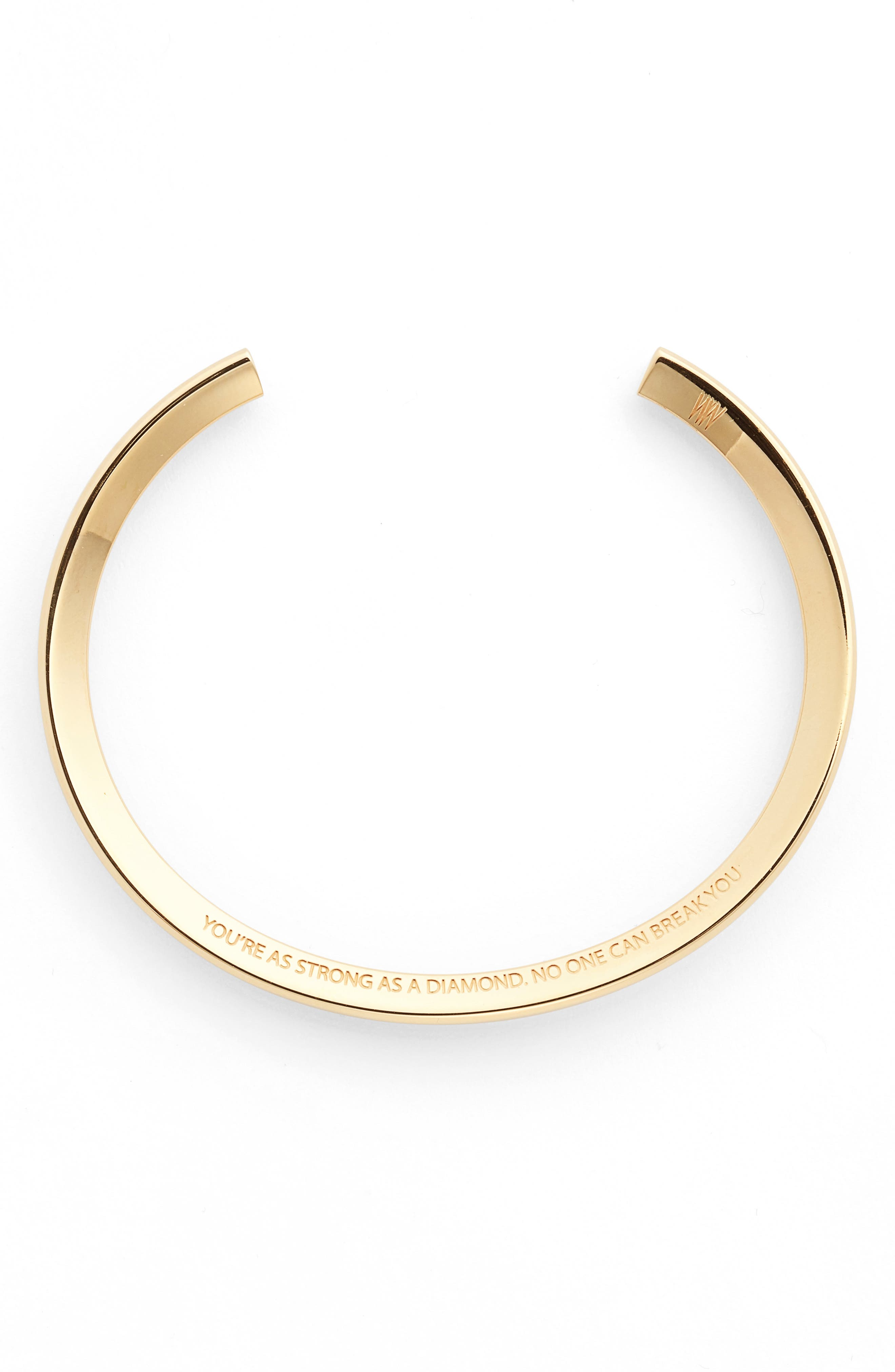 You're as Strong as a Diamond Cuff,                         Main,                         color, Gold