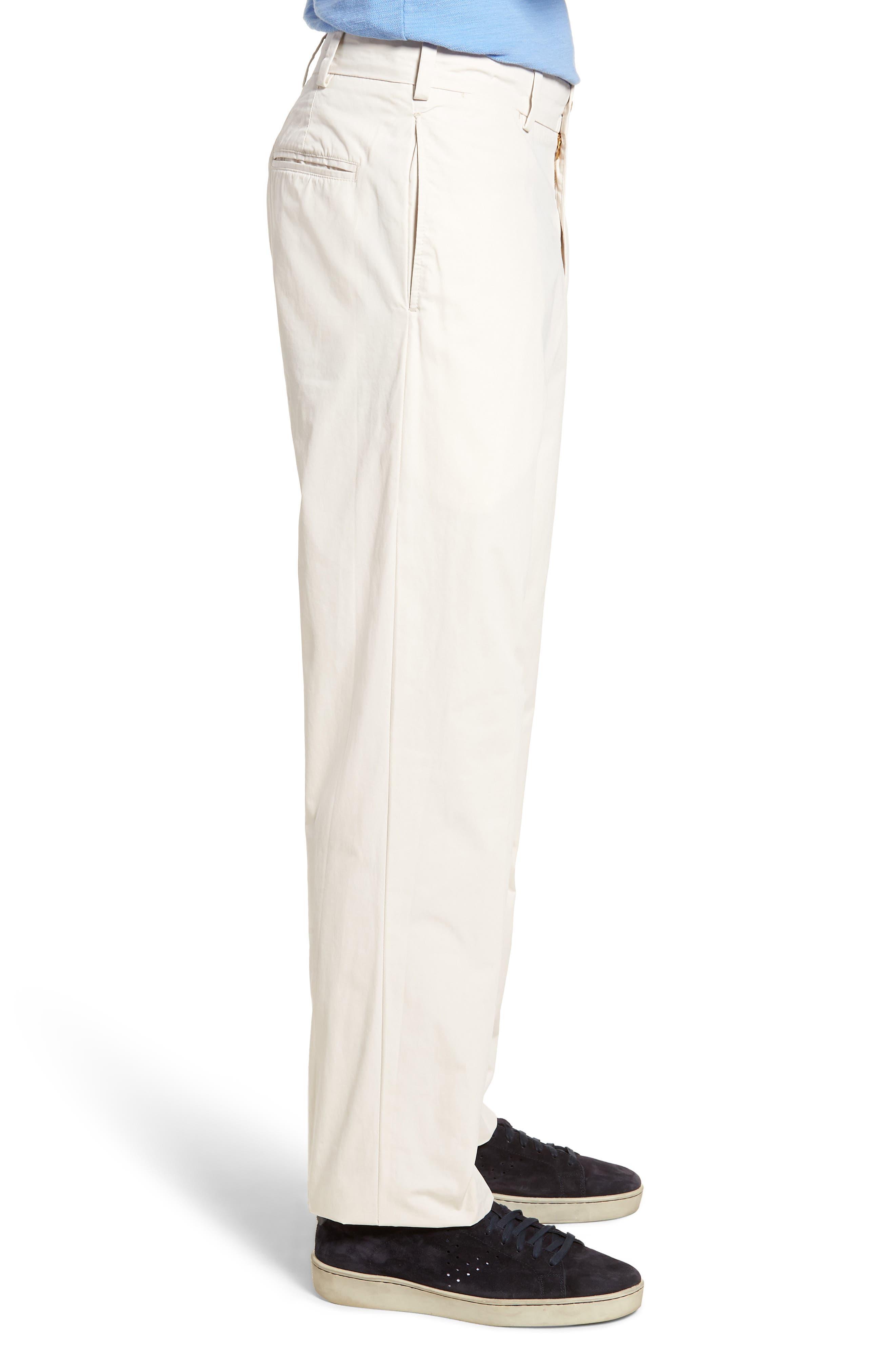 M2 Classic Fit Flat Front Tropical Cotton Poplin Pants,                             Alternate thumbnail 3, color,                             Sand