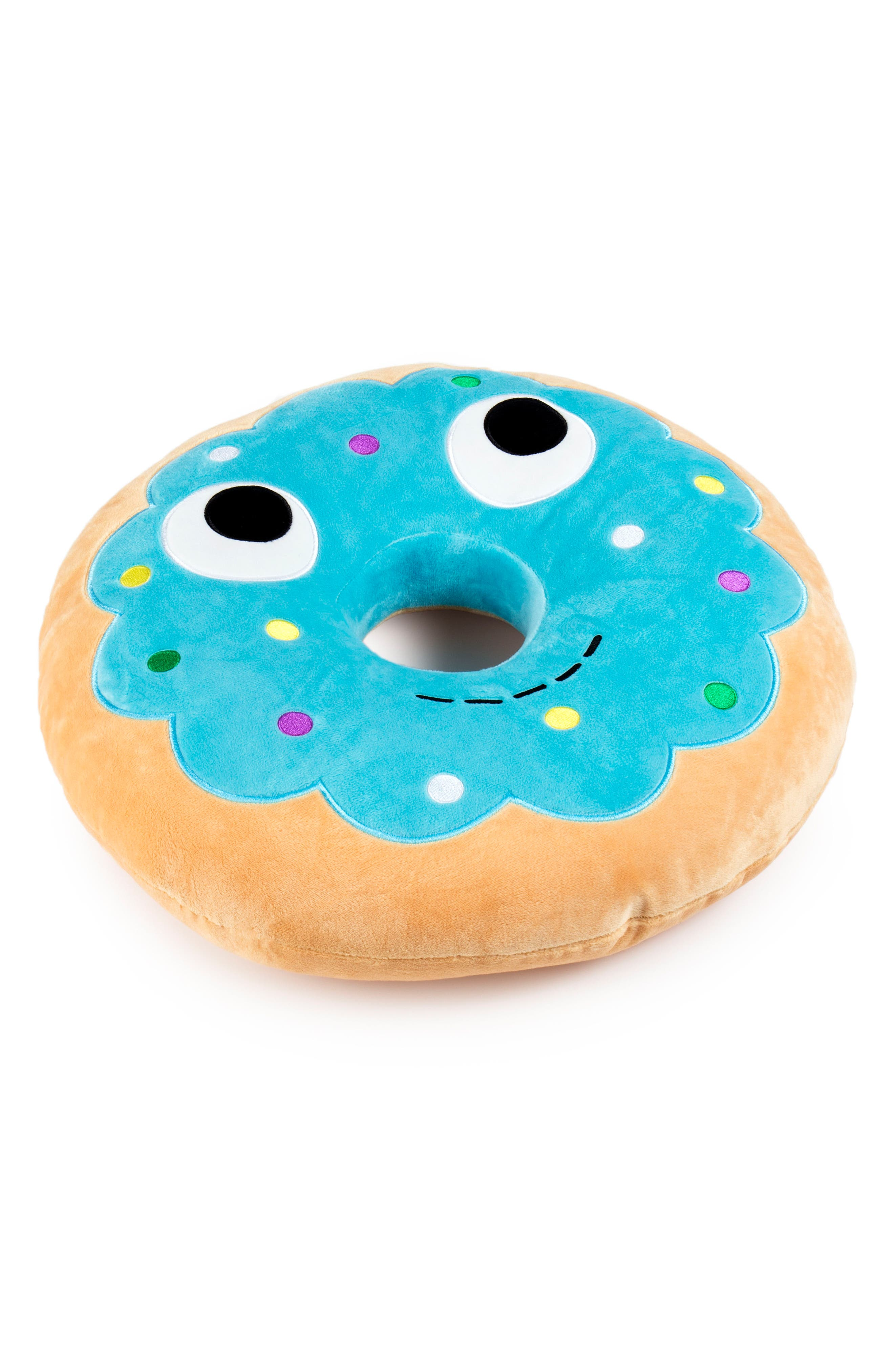 Yummy World Large Yummy Blue Donut Plush Toy,                             Alternate thumbnail 3, color,                             No Color