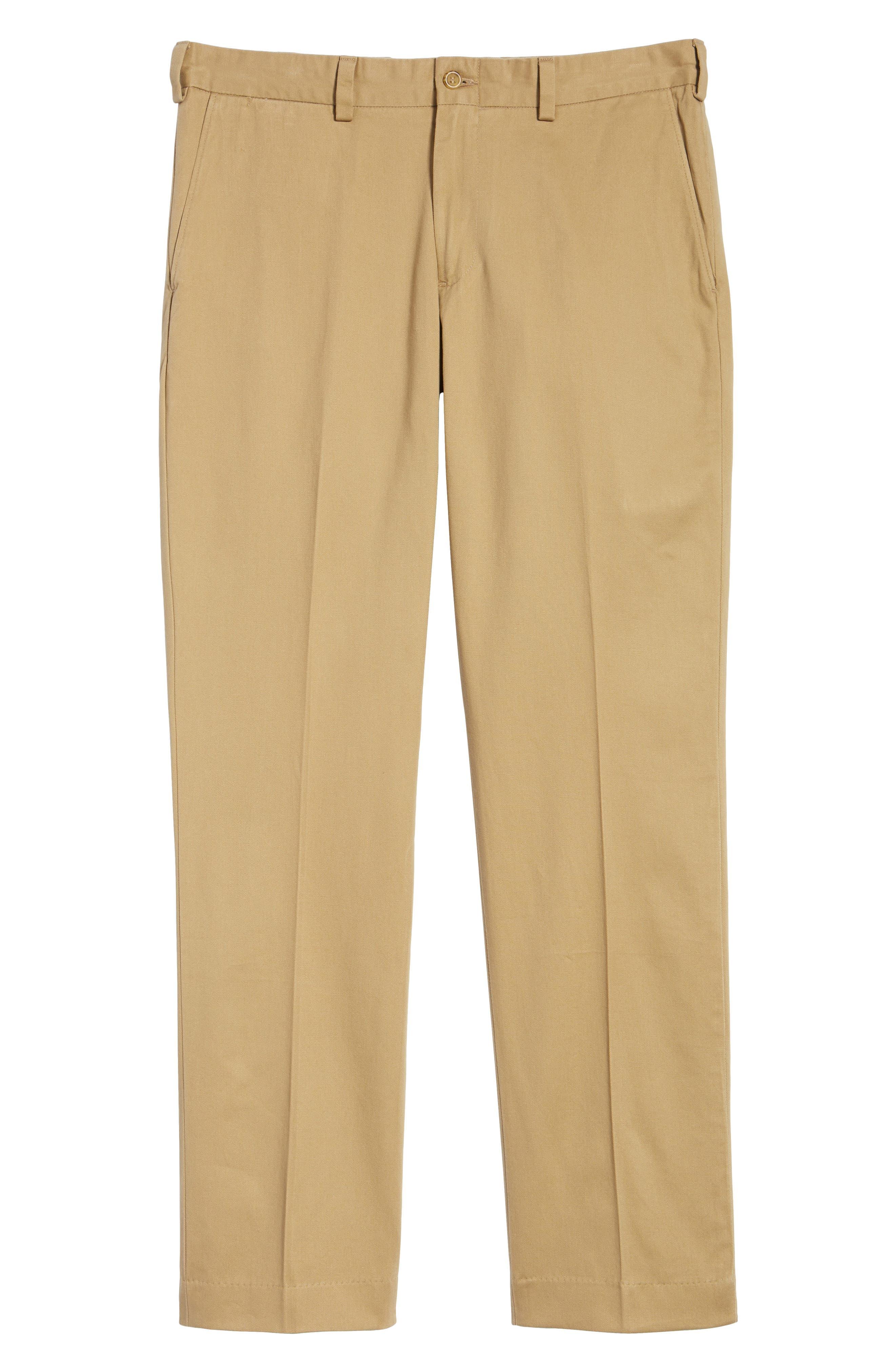 M3 Straight Fit Vintage Twill Flat Front Pants,                             Alternate thumbnail 6, color,                             British Khaki