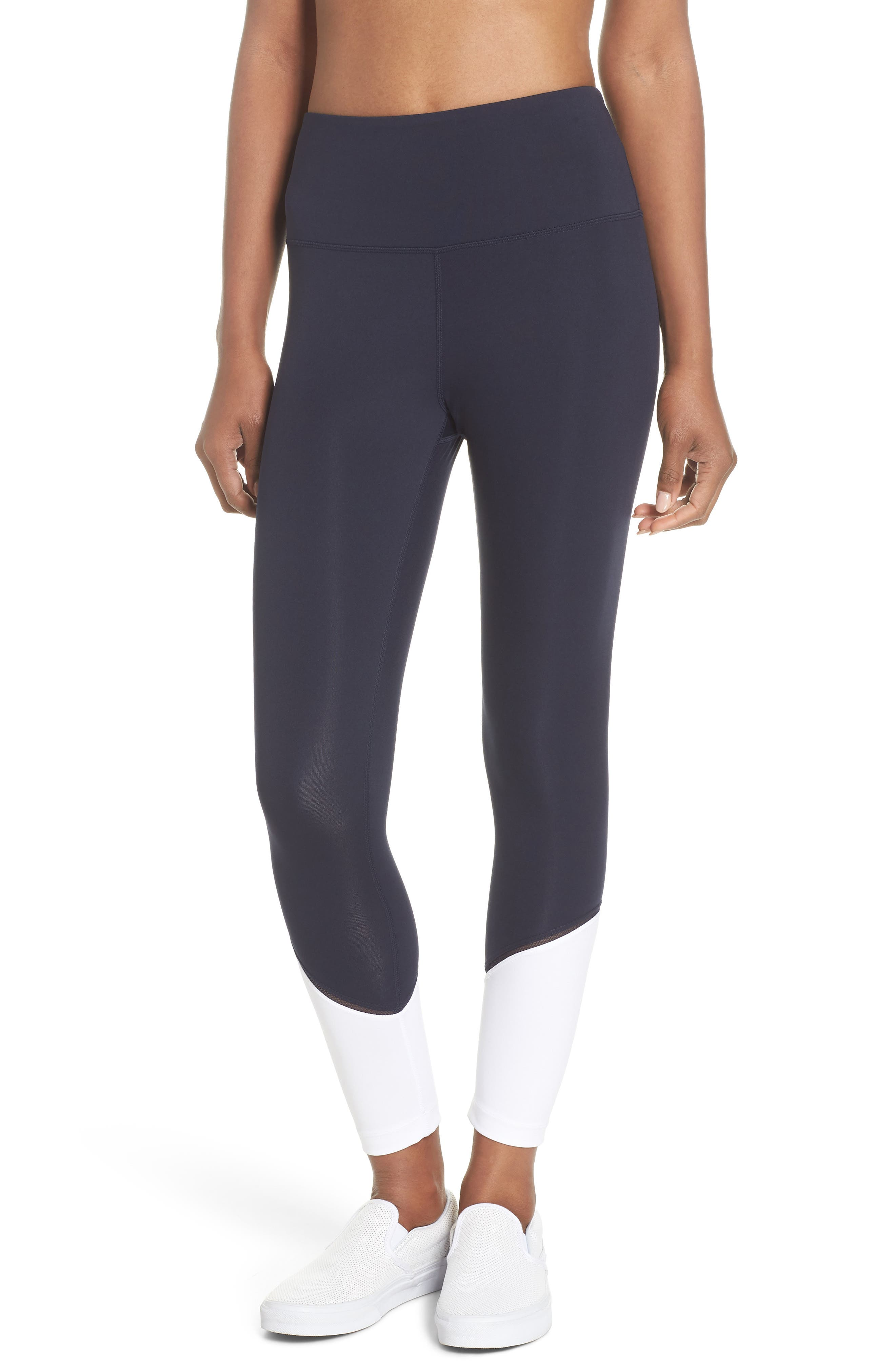 colorblock leggings,                         Main,                         color, Rich Navy Multi