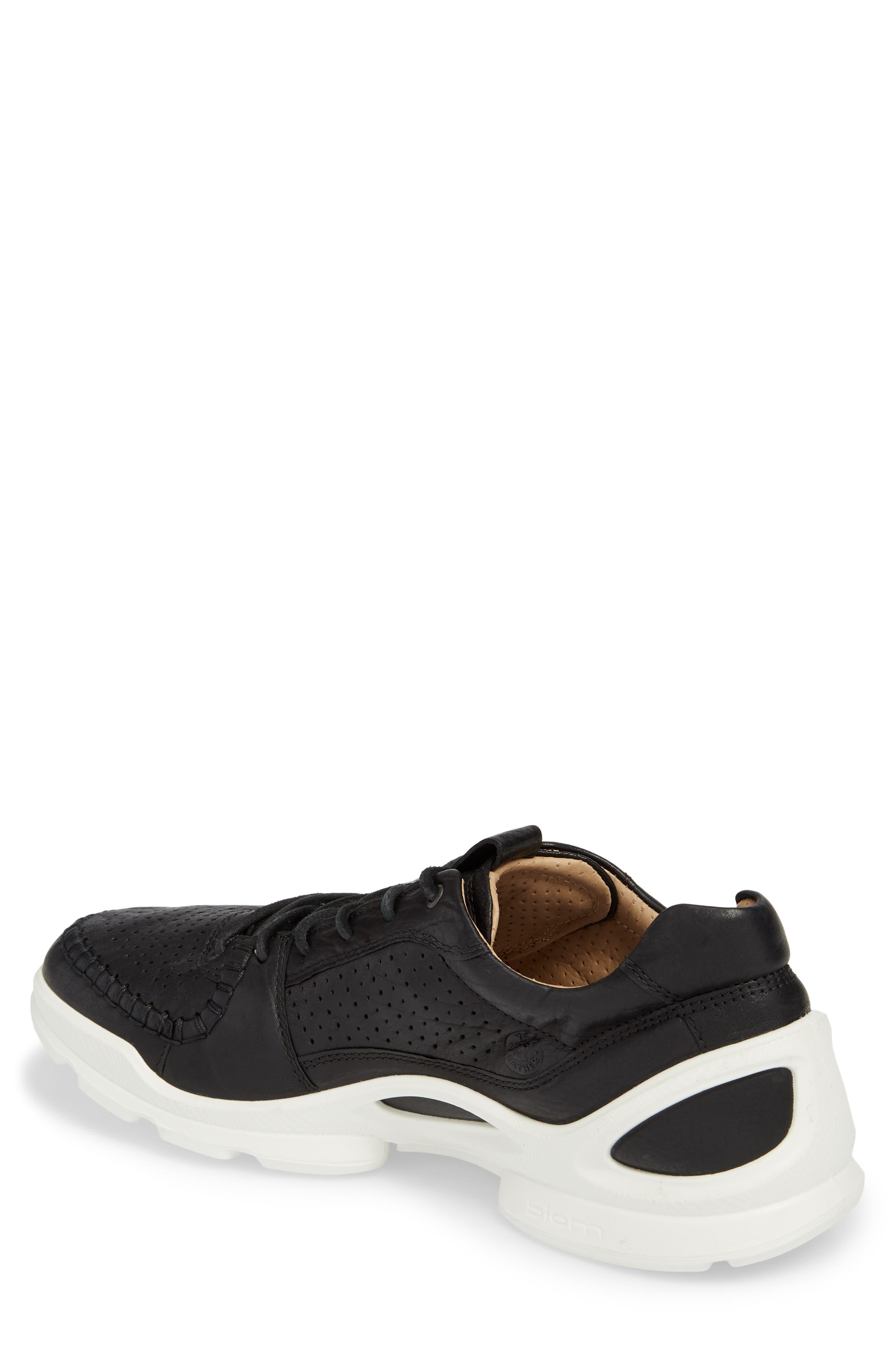 BIOM Street Moc Toe Sneaker,                             Alternate thumbnail 2, color,                             Black Leather