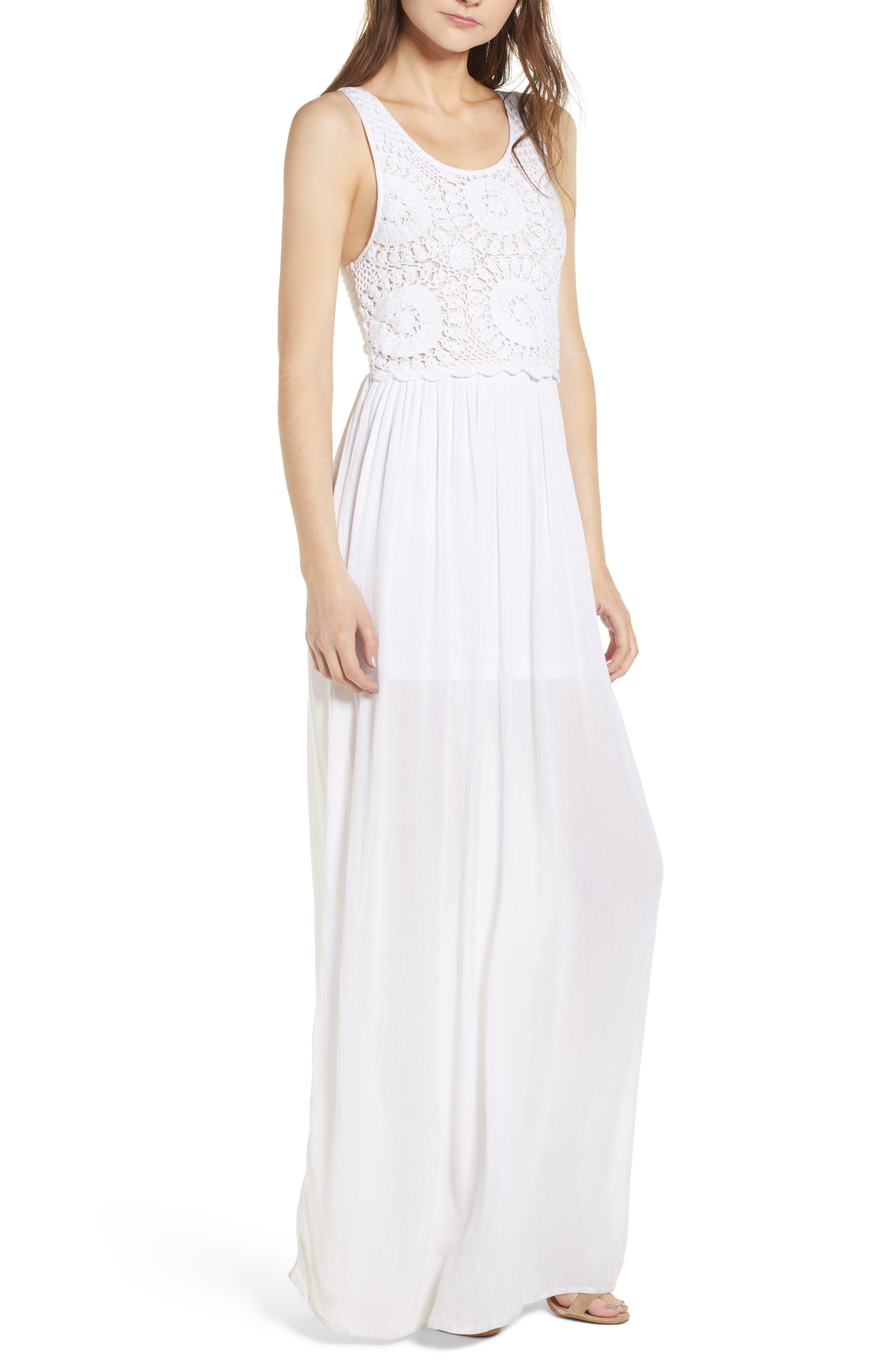 Bishop + Young Bora Bora Maxi Dress,                             Main thumbnail 1, color,                             White