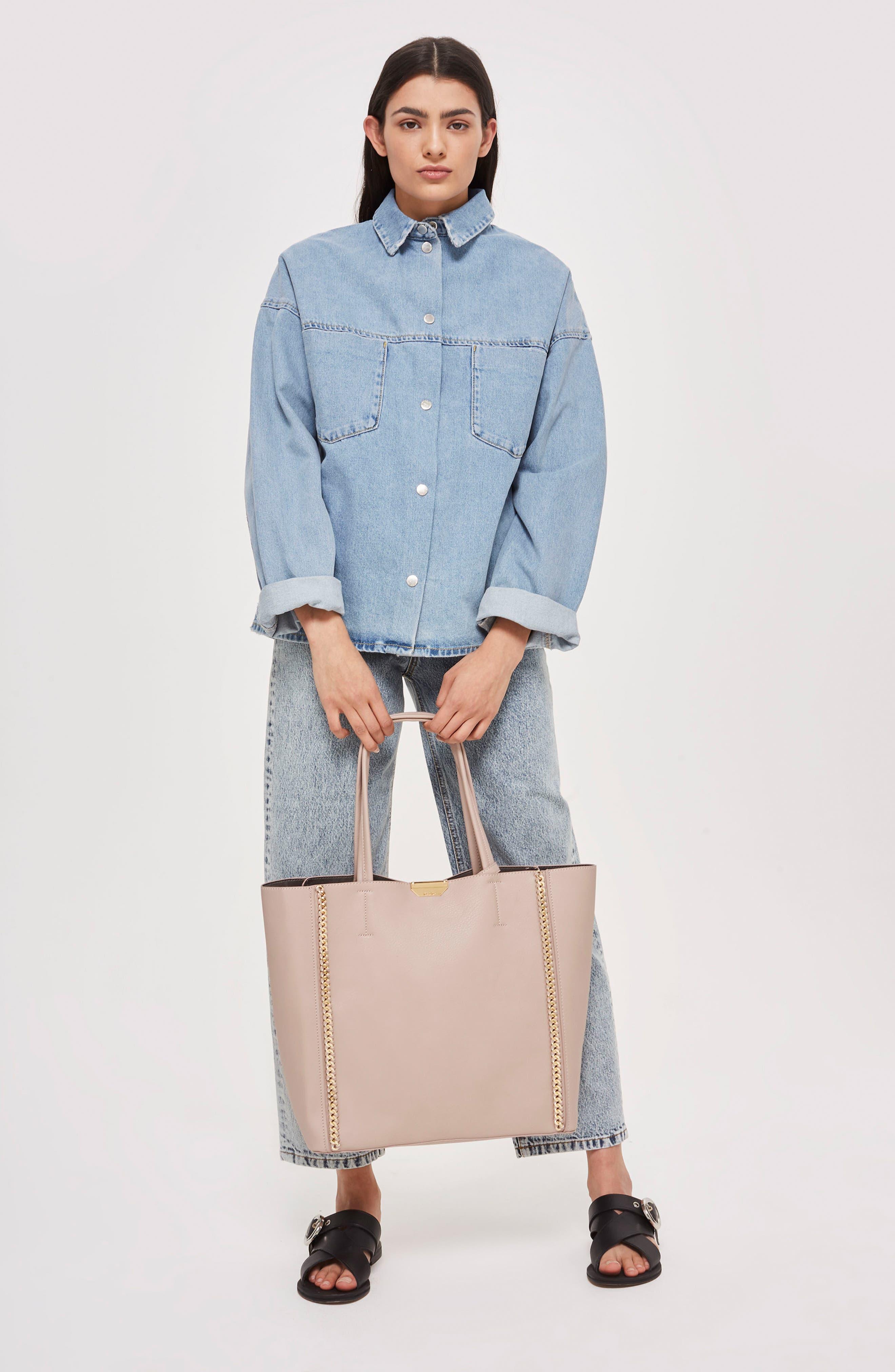 Sade Chain Shopper Bag,                             Alternate thumbnail 2, color,                             Nude Multi