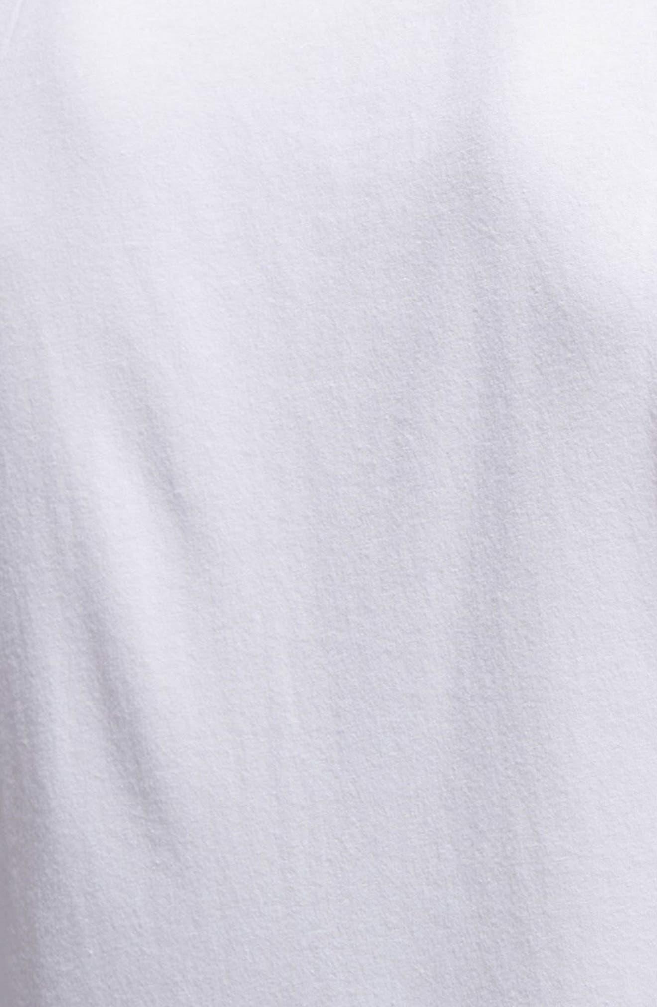 Slim Fit Heathered Logo Tank,                             Alternate thumbnail 5, color,                             White/Collegiate Navy