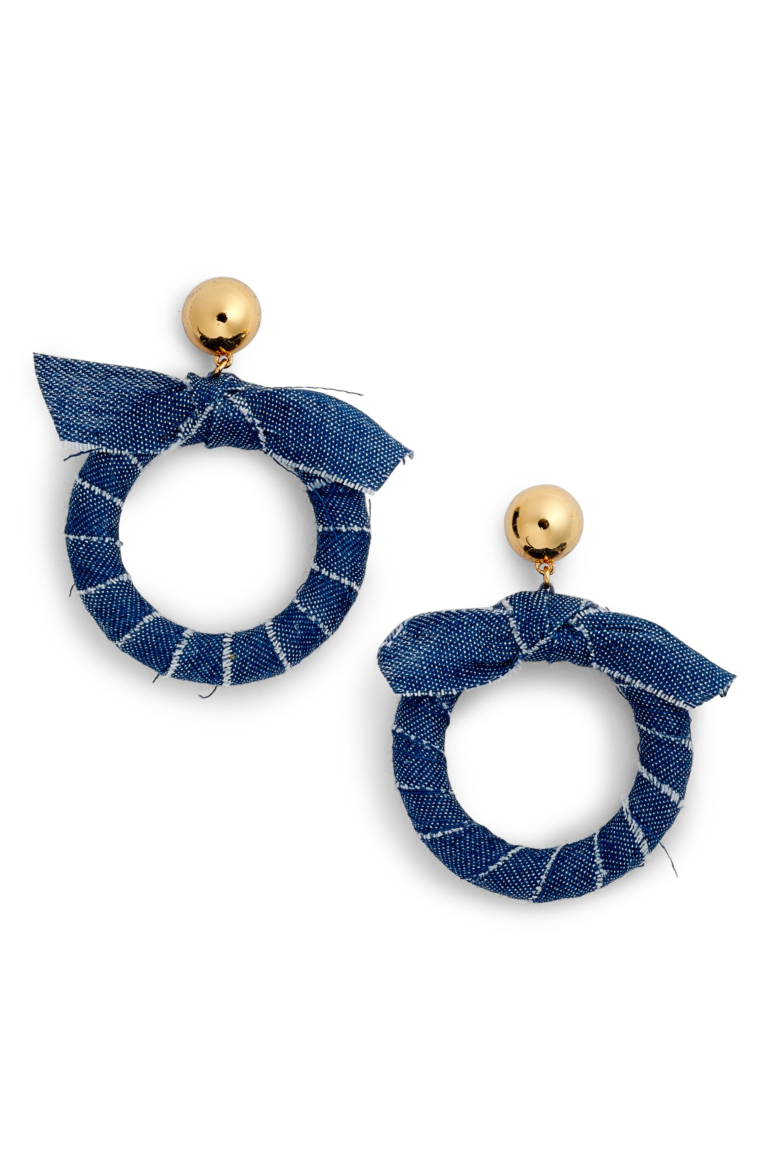 tie it on hoops,                         Main,                         color, Blue Multi
