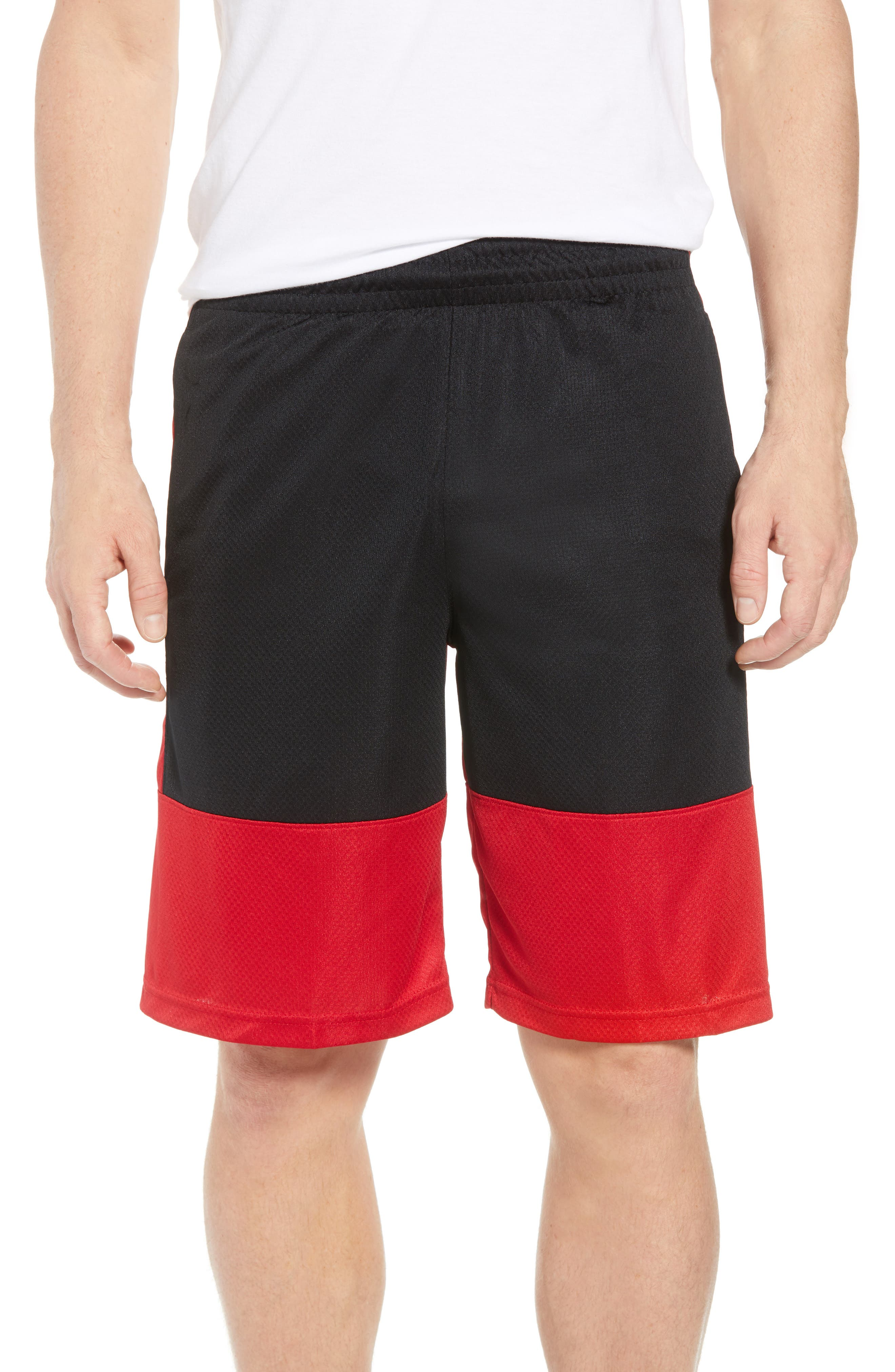 Rise Shorts,                         Main,                         color, Gym Red/ Black/ Black