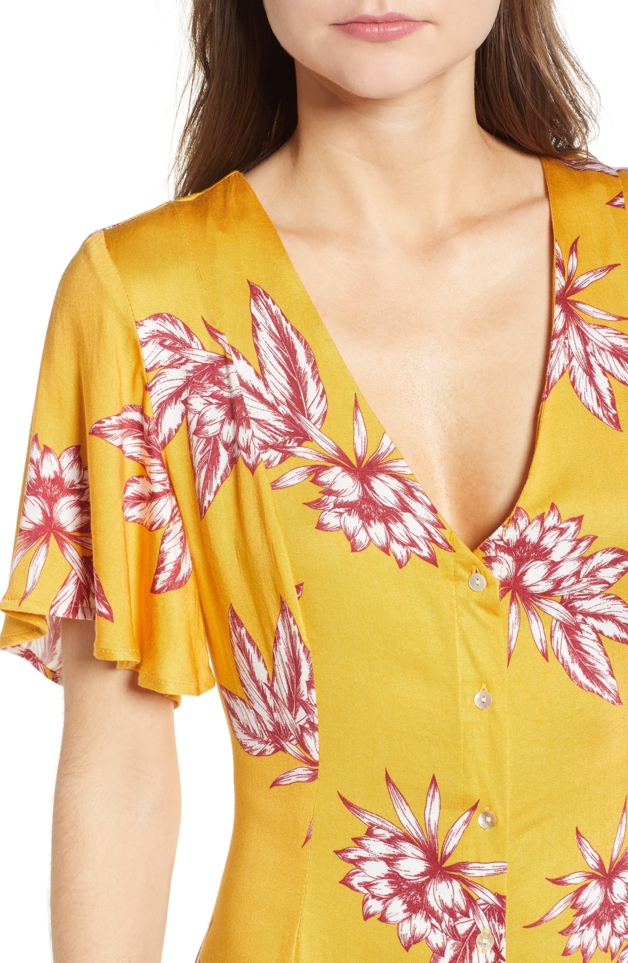 Searing Soul Midi Dress,                             Alternate thumbnail 6, color,                             Multi