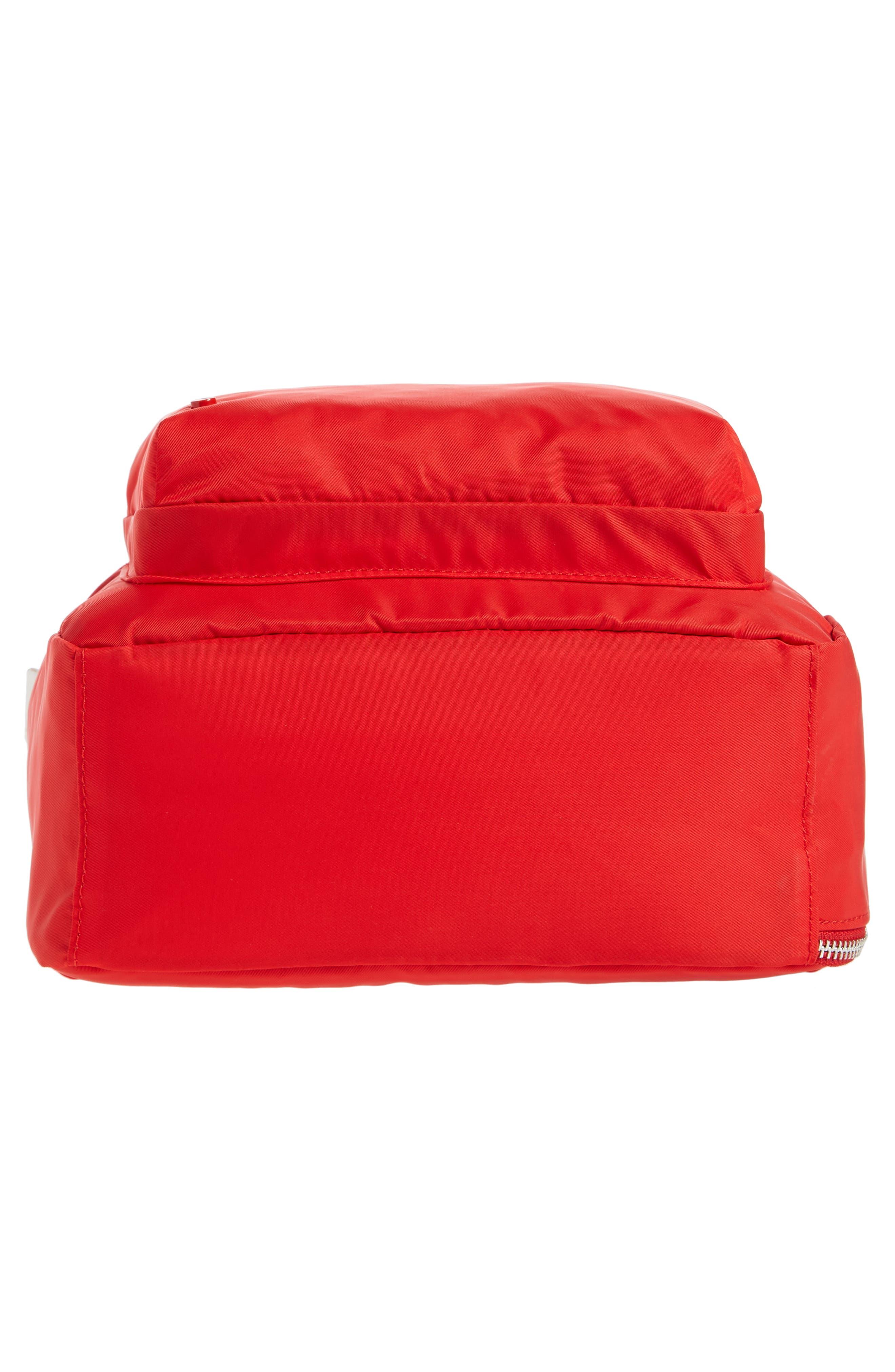 The Heights Mini Lorimer Nylon Backpack,                             Alternate thumbnail 6, color,                             Red