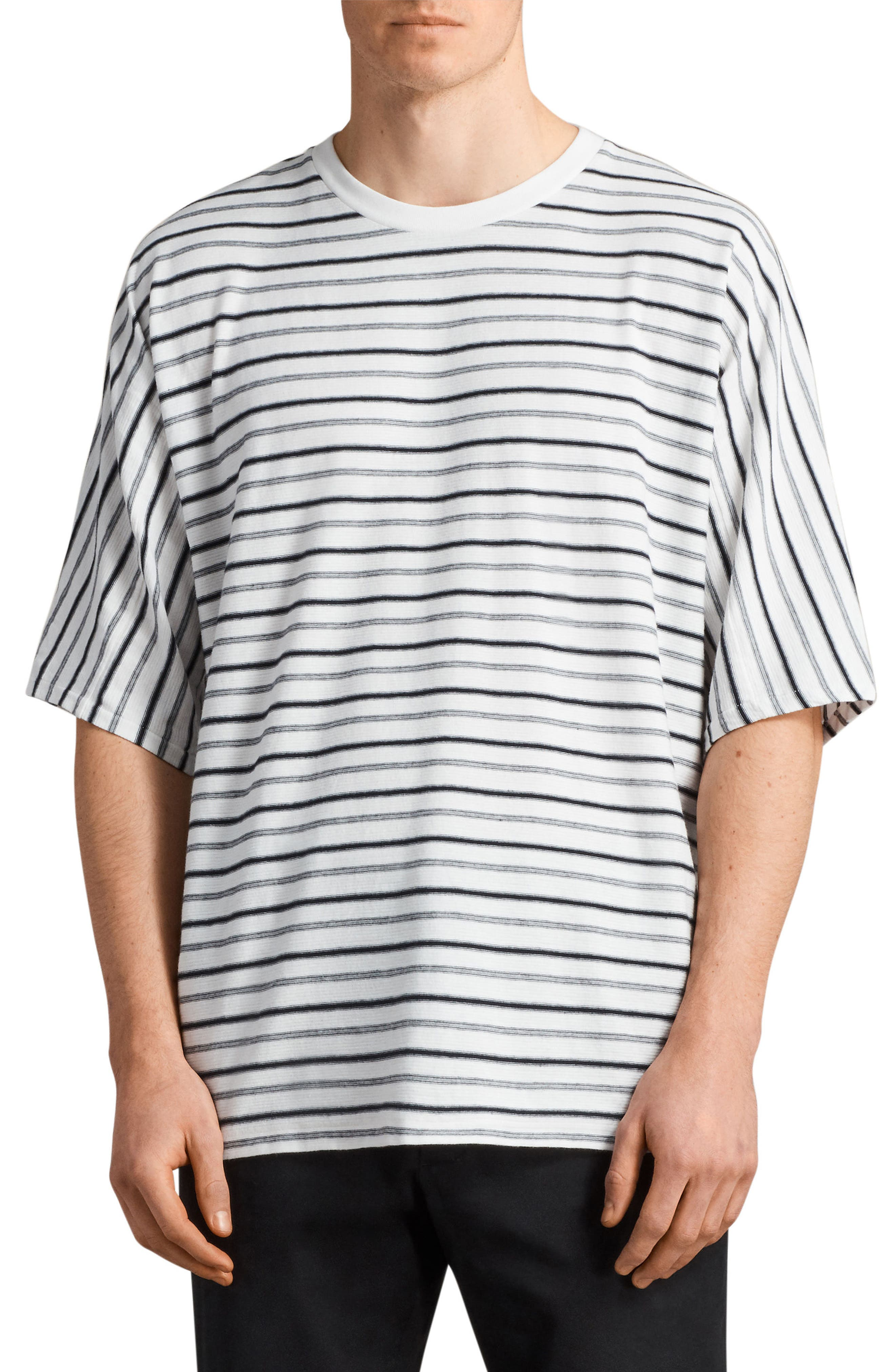 Jules Oversize Stripe T-Shirt,                             Main thumbnail 1, color,                             Chk White/ Ink Navy