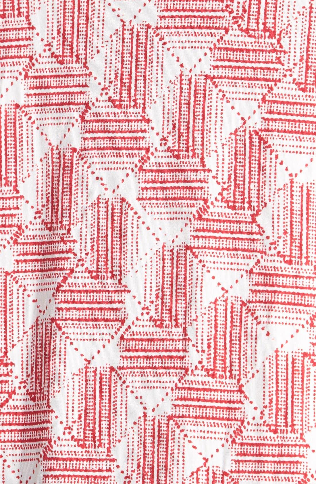 'Aryn' Sleeveless V-Neck Jersey Top,                             Alternate thumbnail 3, color,                             Batik Diamond