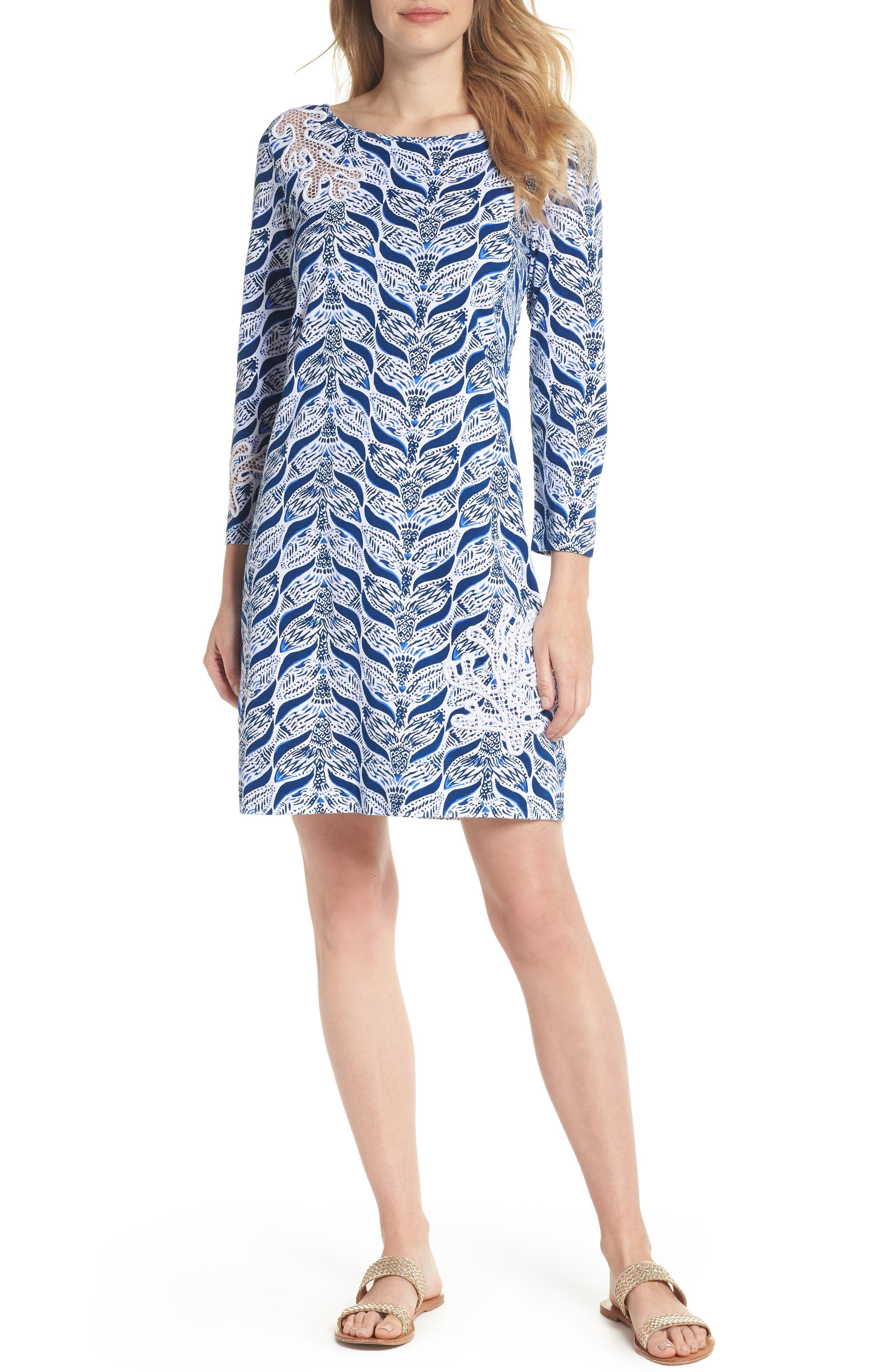 Marlowe T-Shirt Dress,                             Main thumbnail 1, color,                             Resort White A Mermaids Tail
