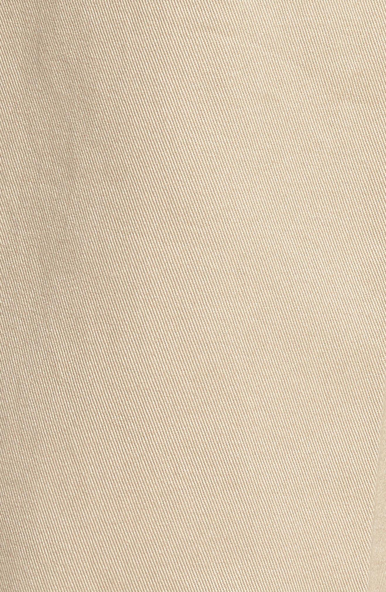 M2 Classic Fit Pleated Vintage Twill Pants,                             Alternate thumbnail 5, color,                             Khaki