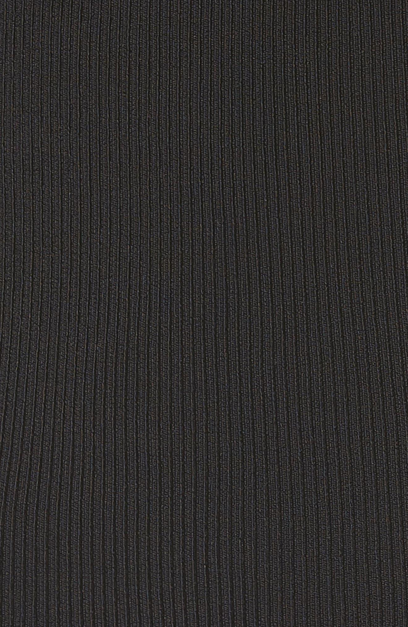 Rib Knit Tank,                             Alternate thumbnail 6, color,                             Black