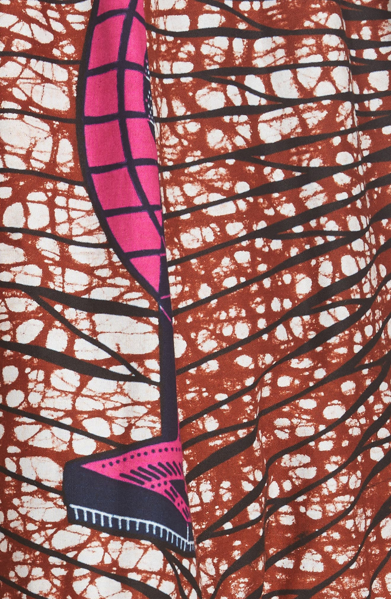Print Cotton Dress,                             Alternate thumbnail 6, color,                             Dutch Fan Print
