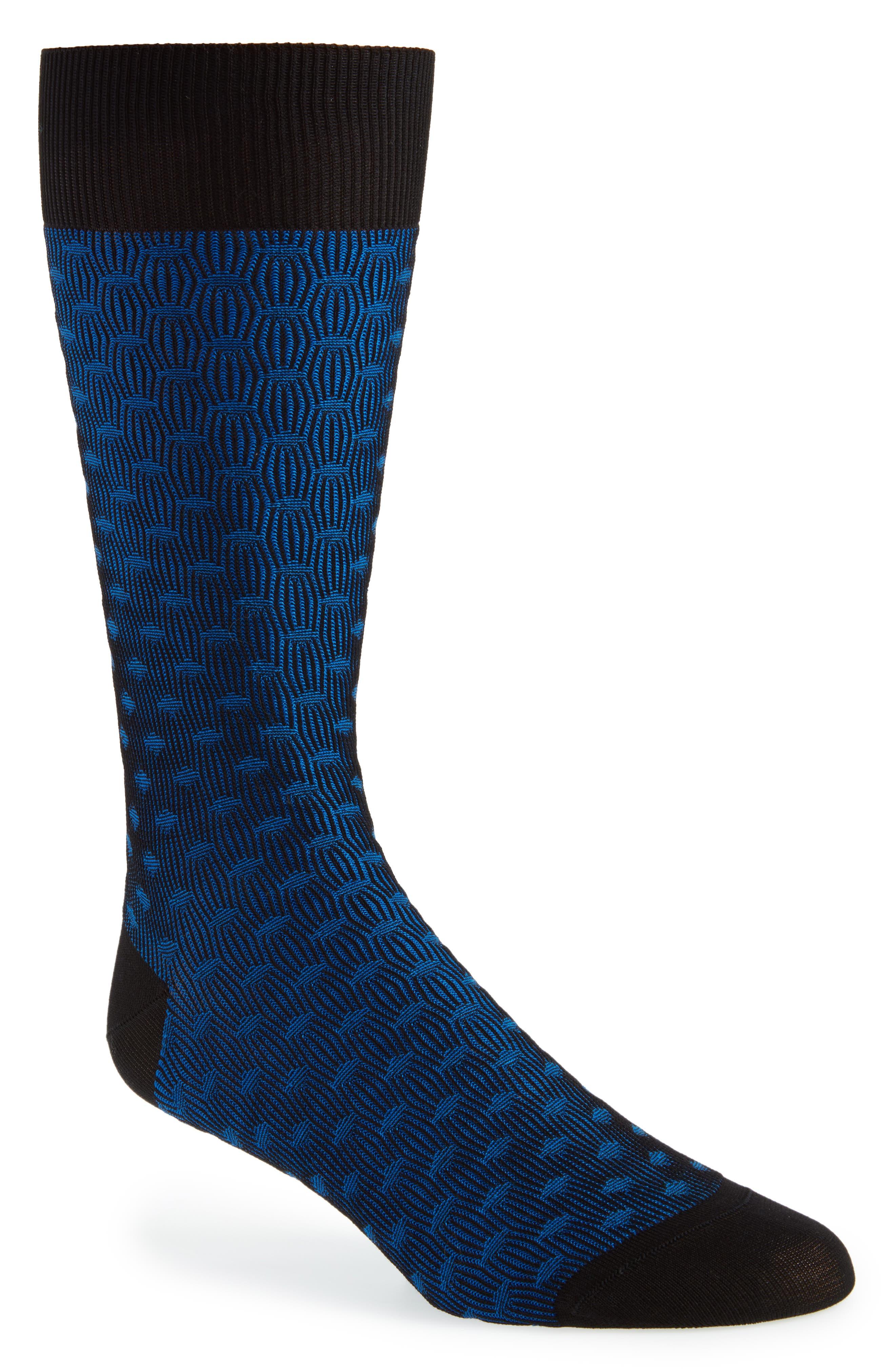 Diamond Crew Socks,                         Main,                         color, Black