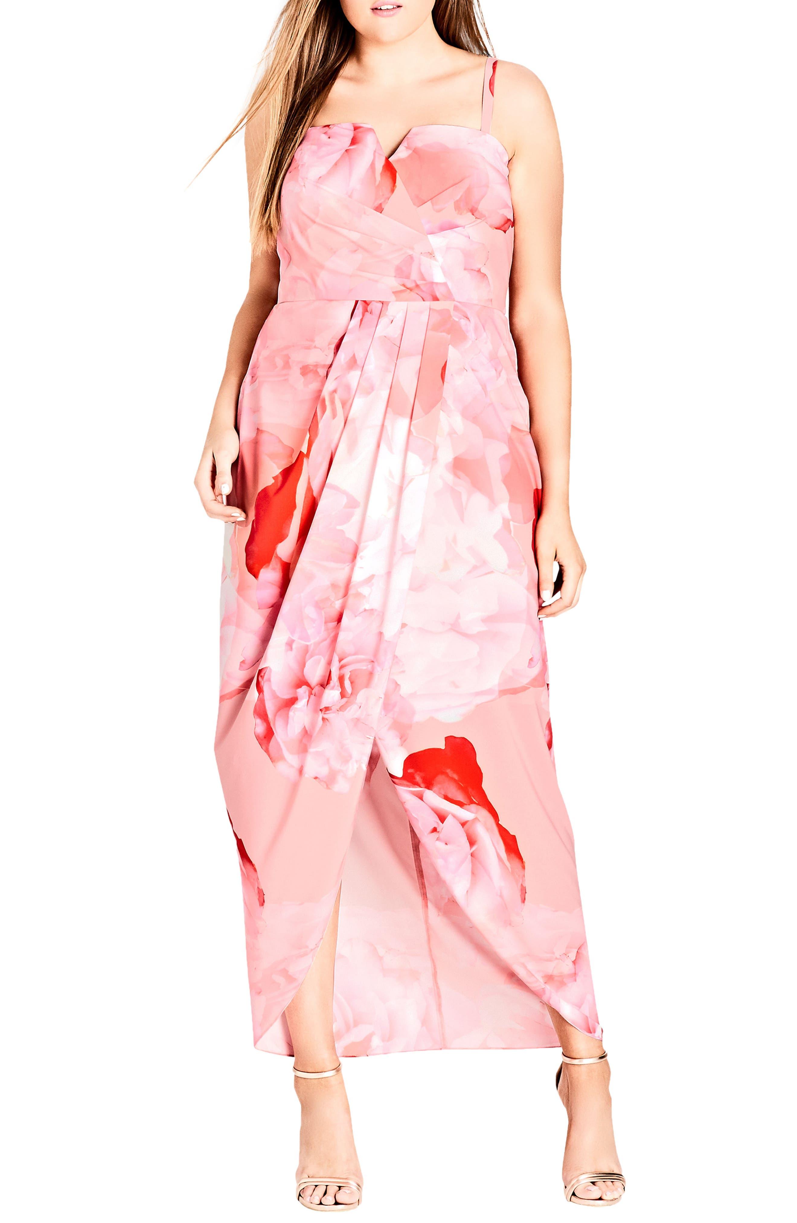 Girly Rose Strapless Maxi Dress,                             Main thumbnail 1, color,                             Girly Rose