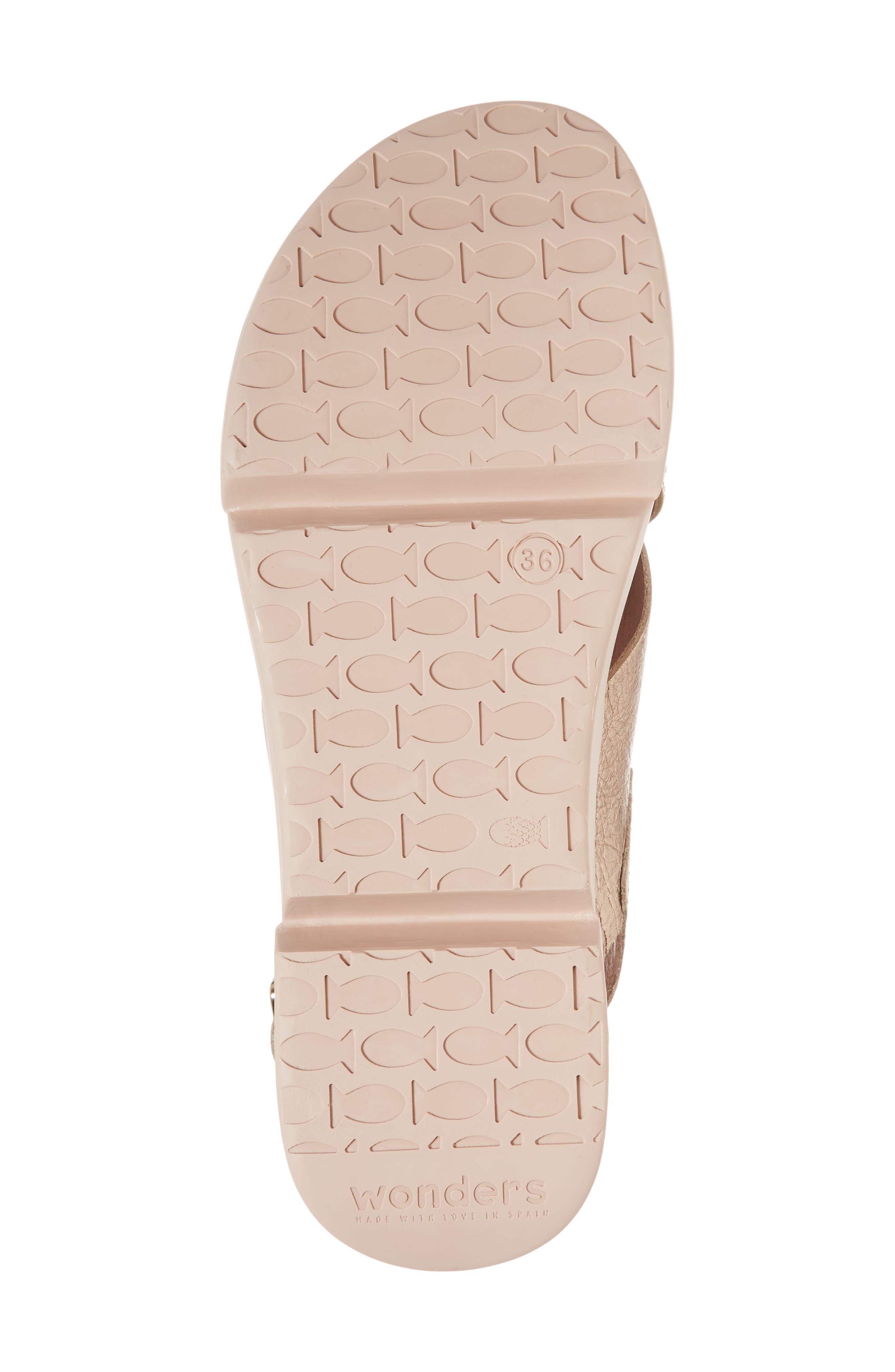 Platform Wedge Sandal,                             Alternate thumbnail 6, color,                             Oro/ Taupe Leather
