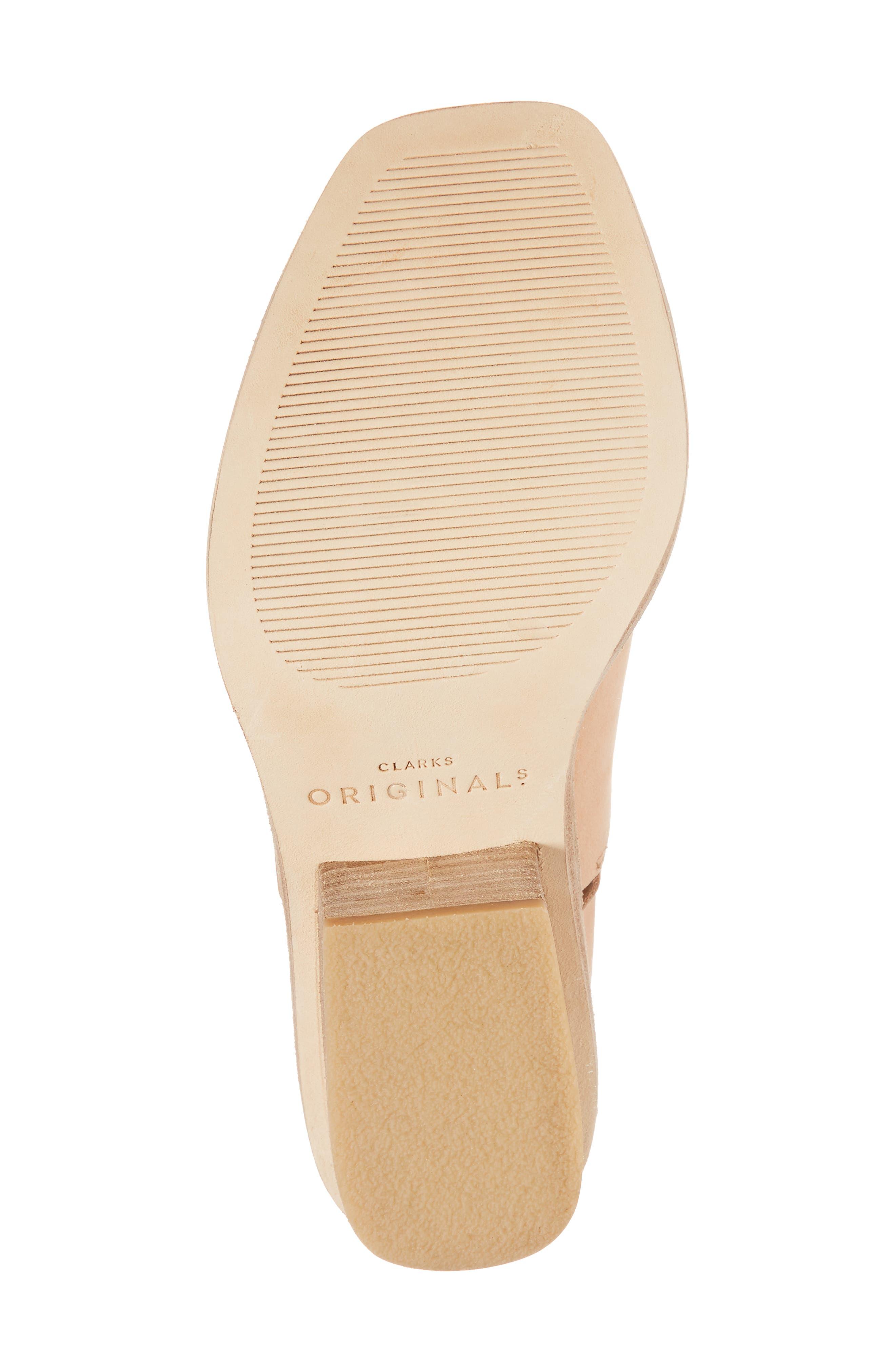 Clarks Bermudan Block Heel Sandal,                             Alternate thumbnail 6, color,                             Sandstone Nubuck Leather